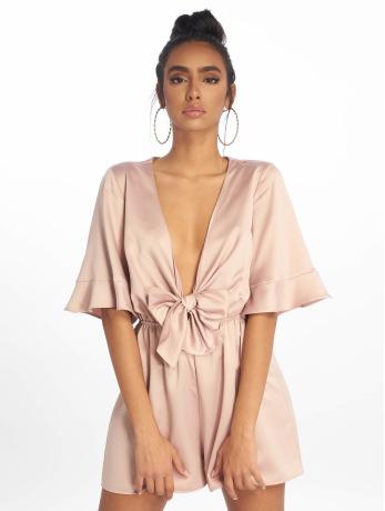 missguided-frauen-jumpsuit-satin-kimono-sleeve-in-beige