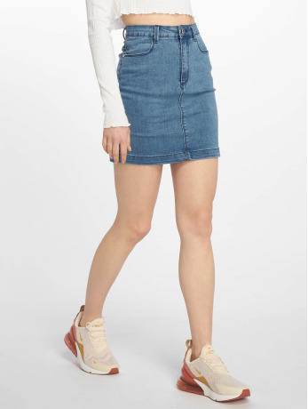 missguided-frauen-rock-super-stretch-denim-mini-in-blau