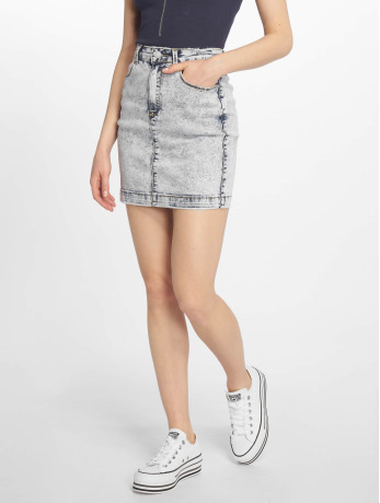 missguided-frauen-rock-bleach-wash-superstretch-denim-in-blau