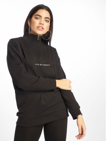 missguided-frauen-pullover-city-of-angels-zip-over-sized-in-schwarz
