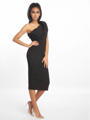 missguided-frauen-kleid-one-shoulder-midi-in-schwarz