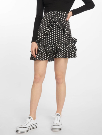 missguided-frauen-rock-polka-dot-frill-in-schwarz
