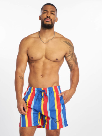 karl-kani-manner-badeshorts-signature-stripe-in-blau