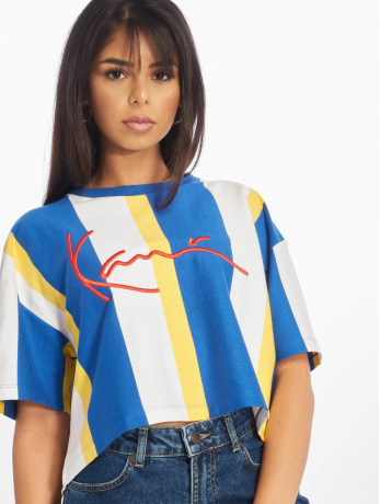 karl-kani-frauen-t-shirt-stripe-in-blau
