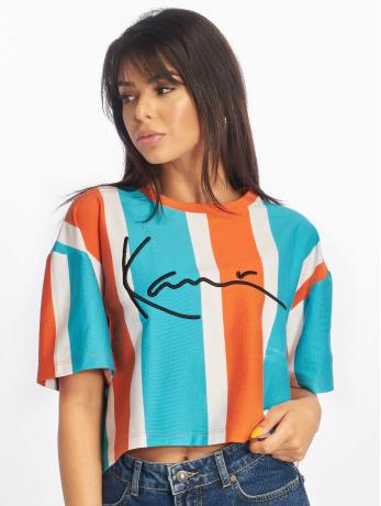 karl-kani-frauen-t-shirt-signature-stripe-in-orange