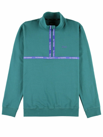 huf-manner-pullover-midtown-1-2-zip-fleece-in-grun