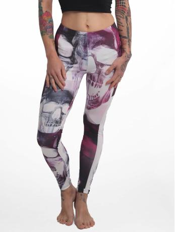 yakuza-frauen-legging-purple-skull-in-bunt