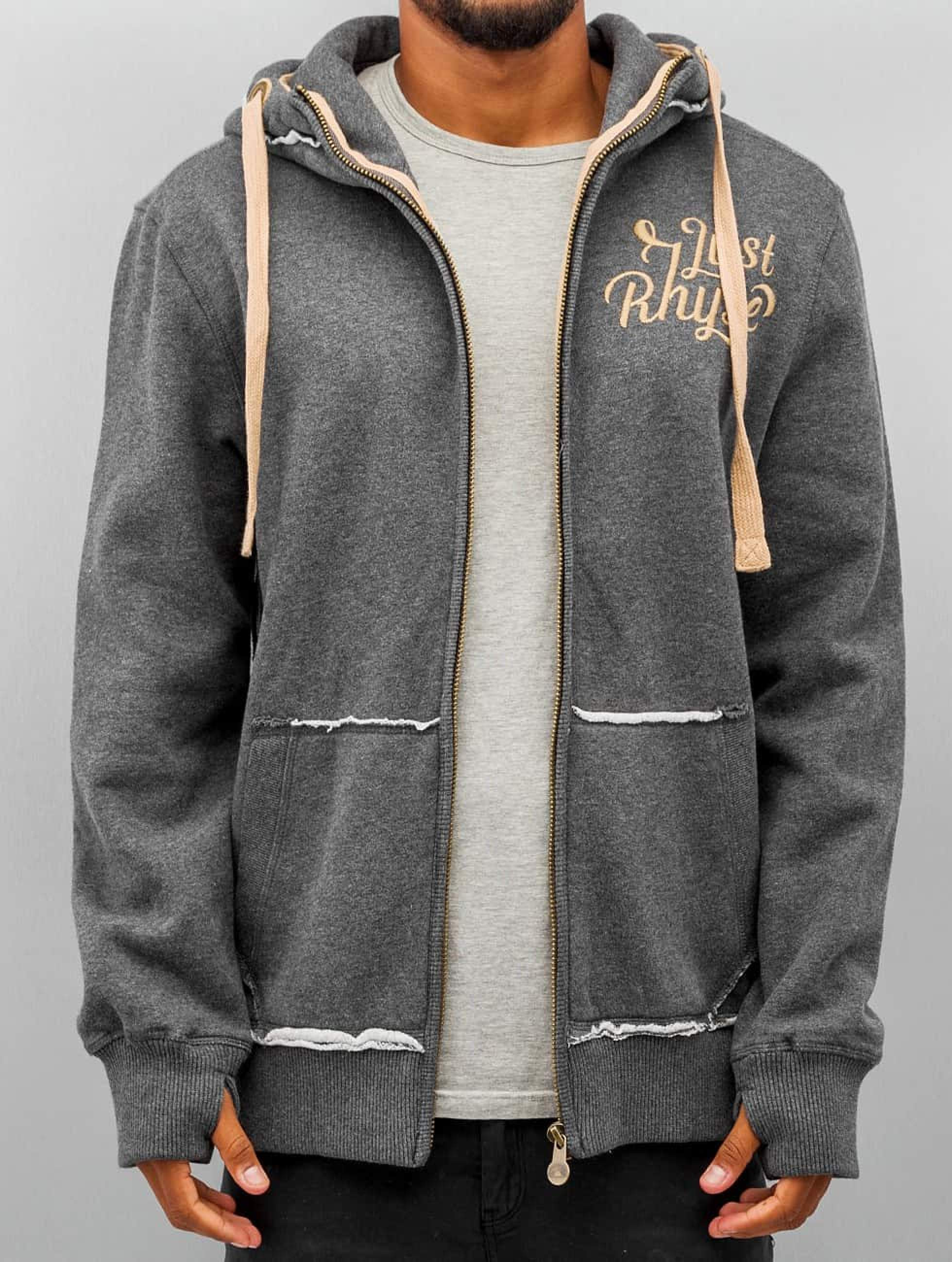 Just Rhyse / Zip Hoodie Big in grey S