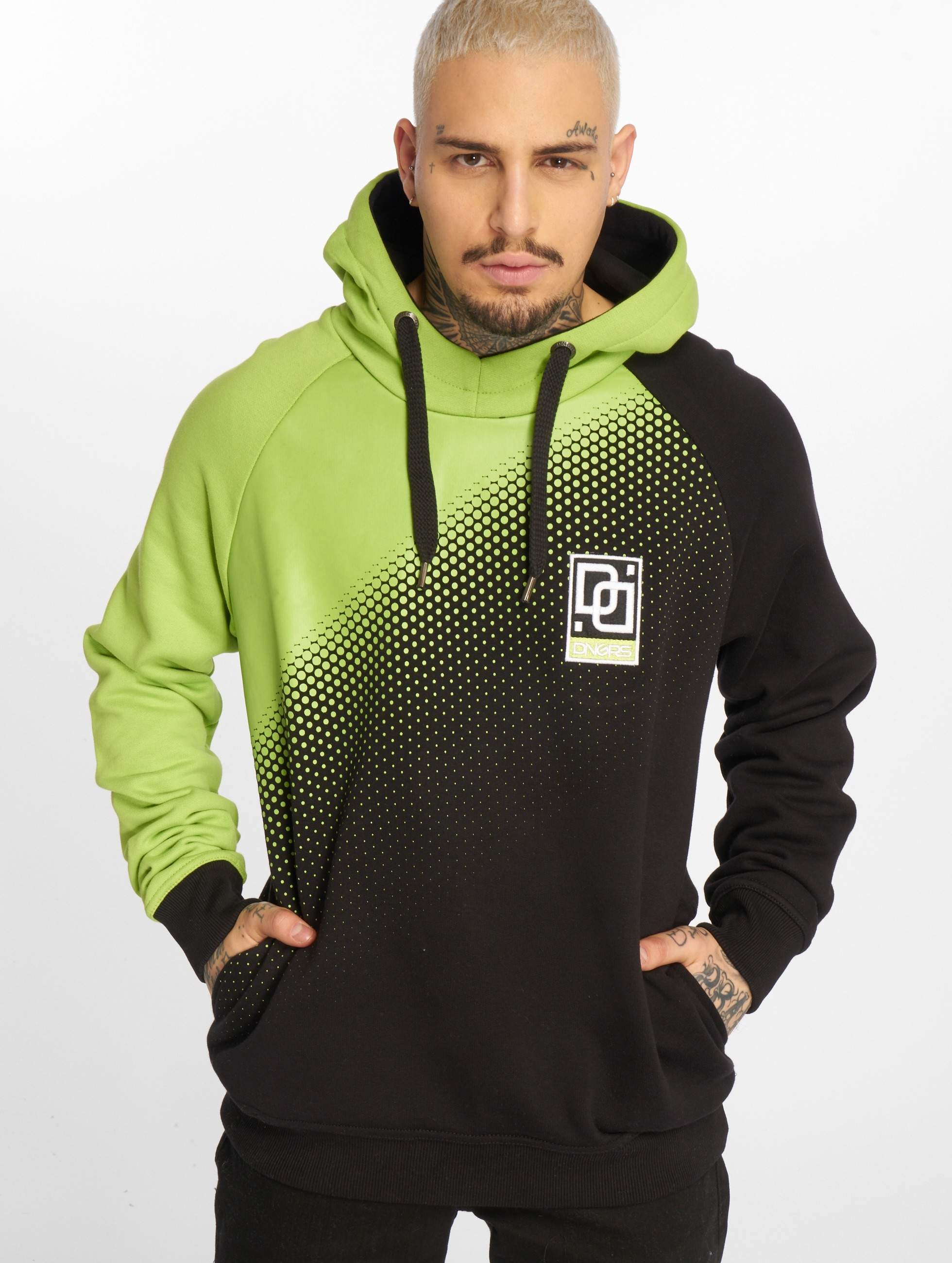 Dangerous DNGRS / Hoodie Raglan in green XL