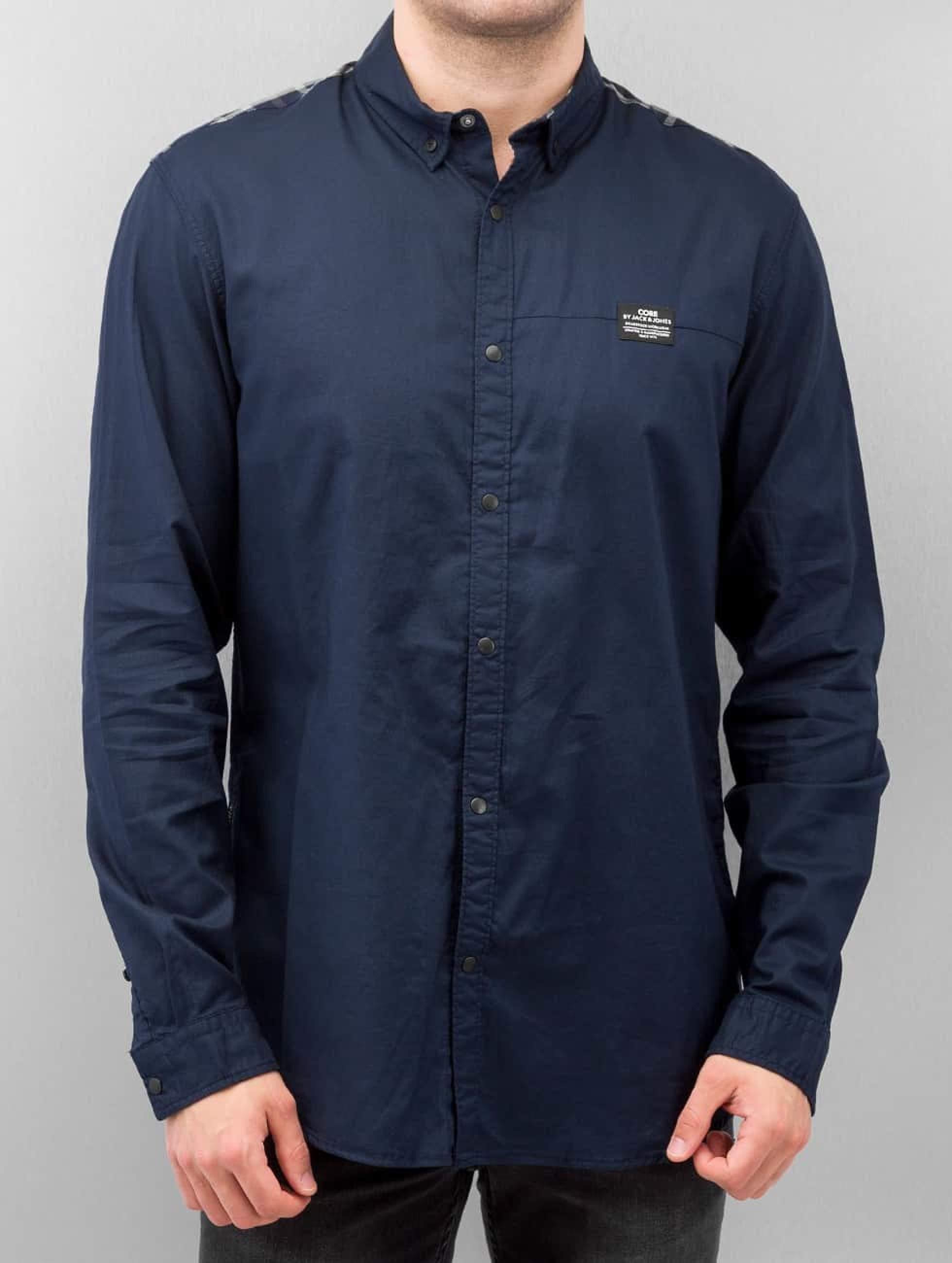 Jack & Jones Männer Hemd Victor Plain in blau