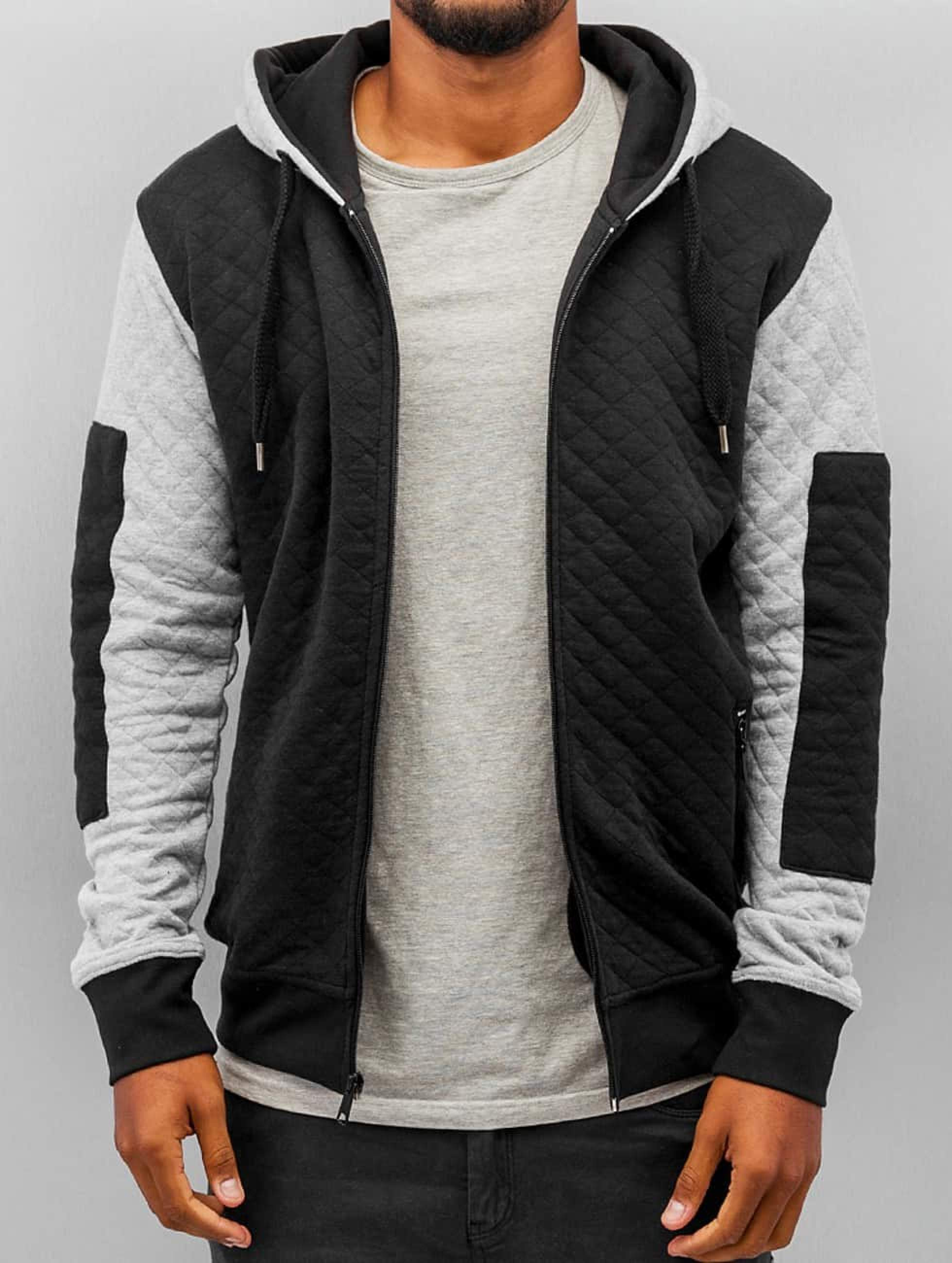 Just Rhyse / Zip Hoodie Quilt in black M