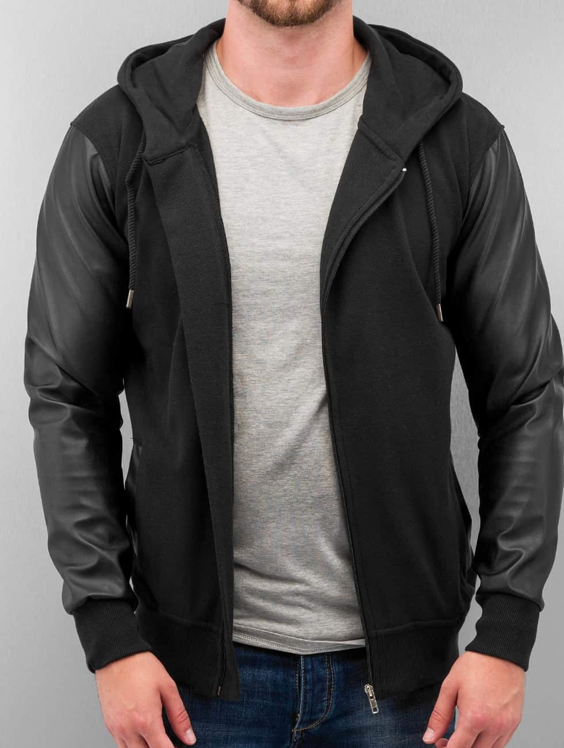 Bangastic / Zip Hoodie PU Sleeve in black M