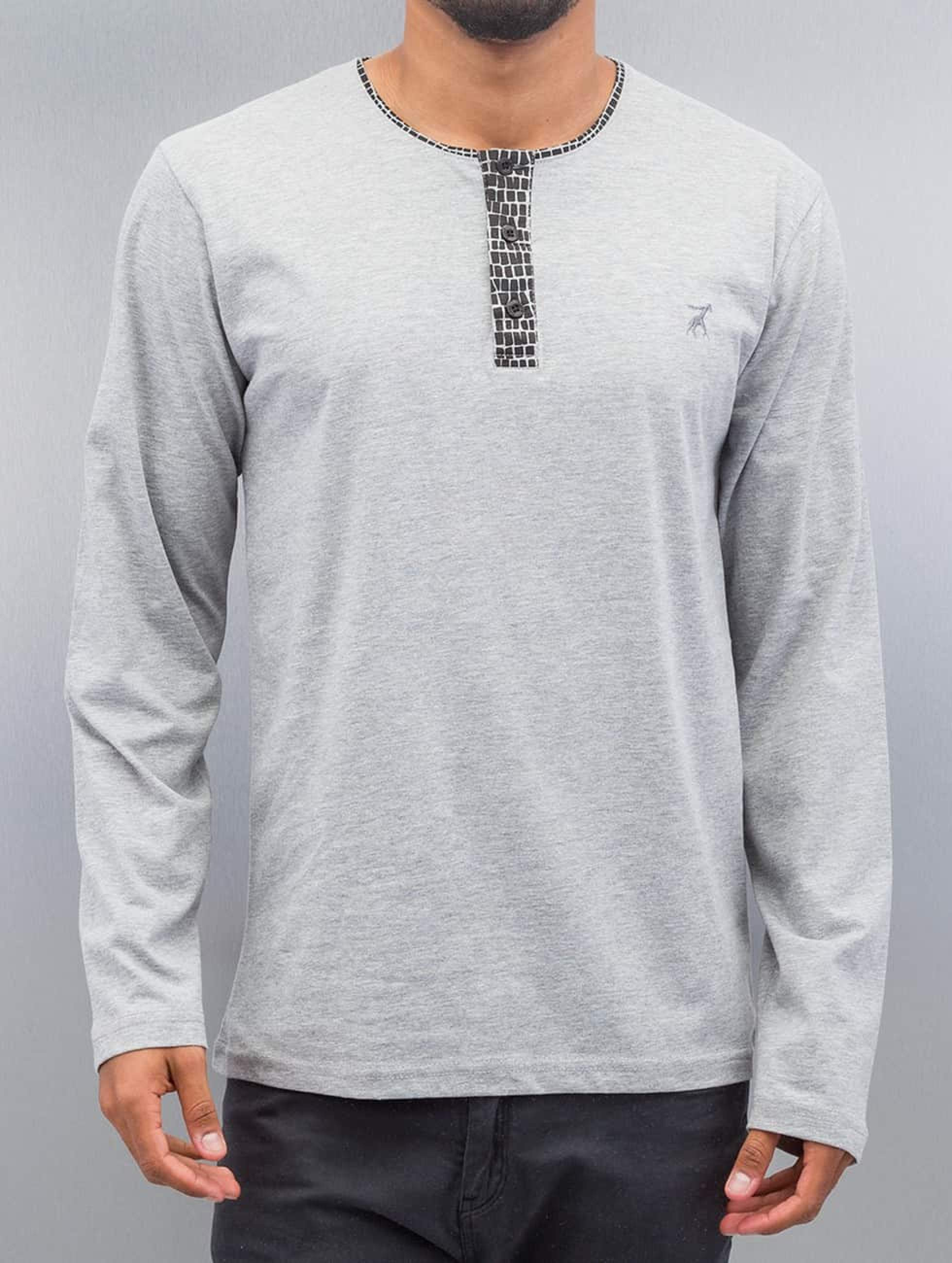 Cazzy Clang / Longsleeve Button Tape in grey L
