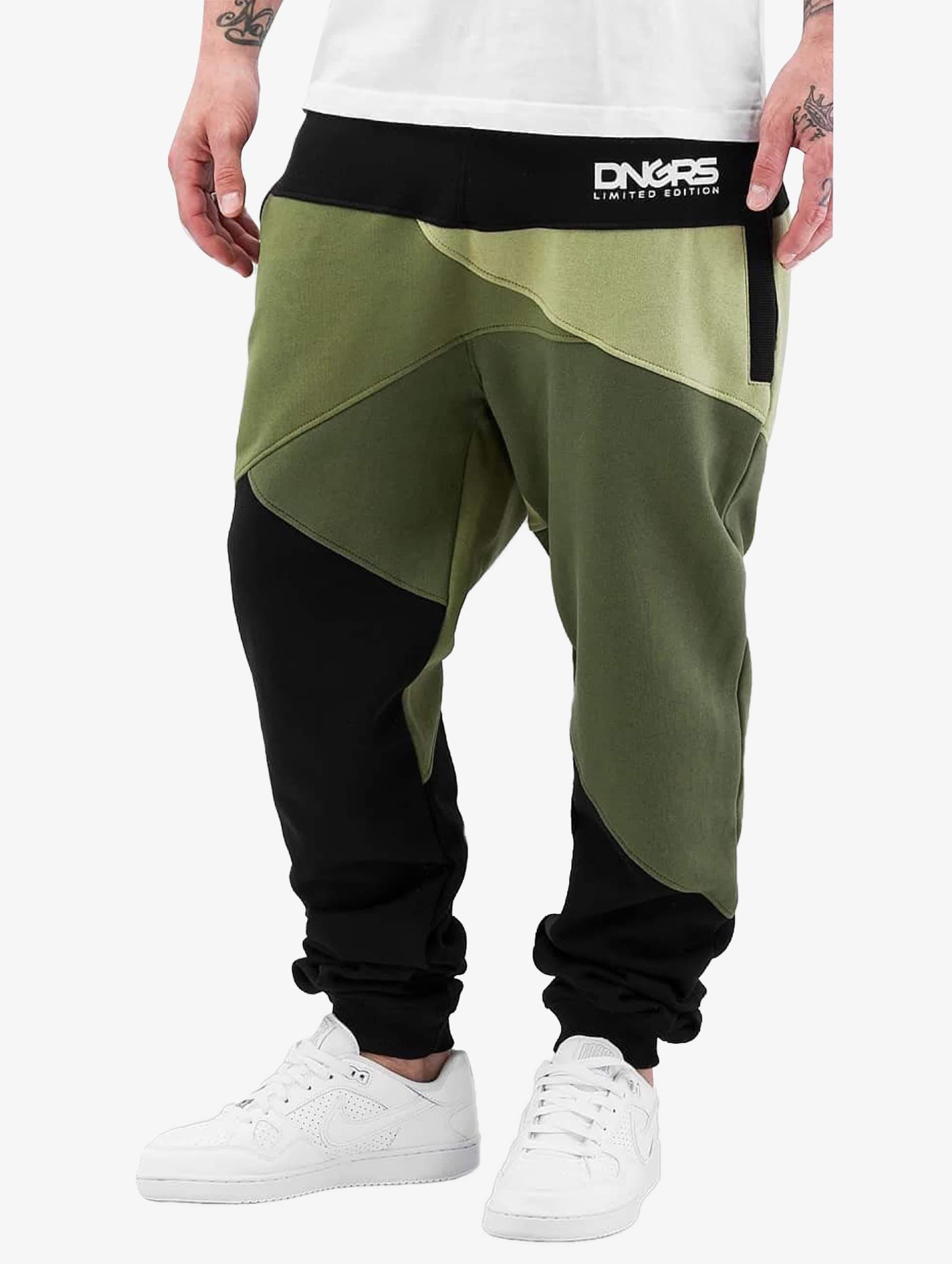 Dangerous DNGRS / Sweat Pant Locotay Race City in olive XL