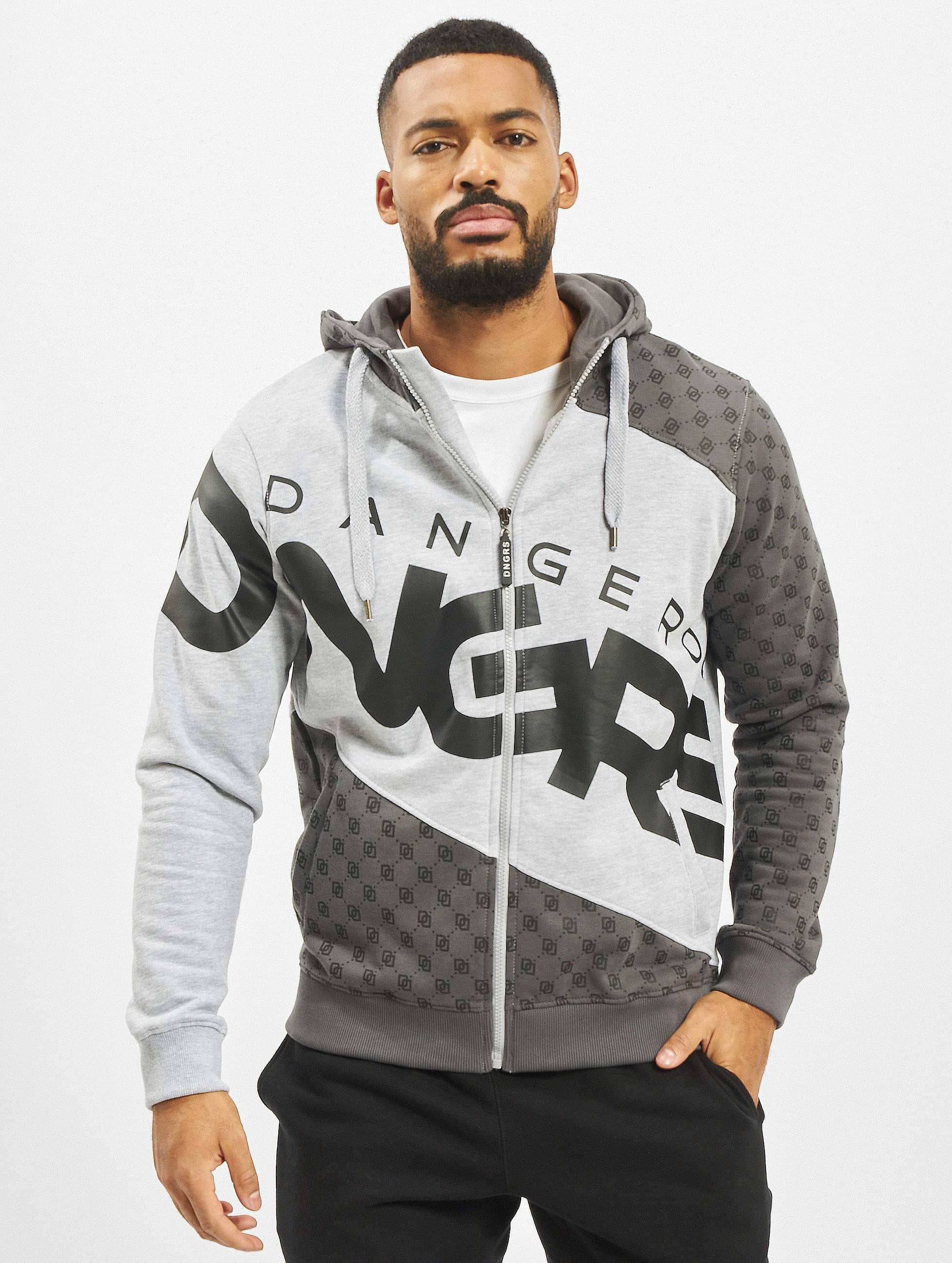Dangerous DNGRS / Zip Hoodie Veli in grey XL