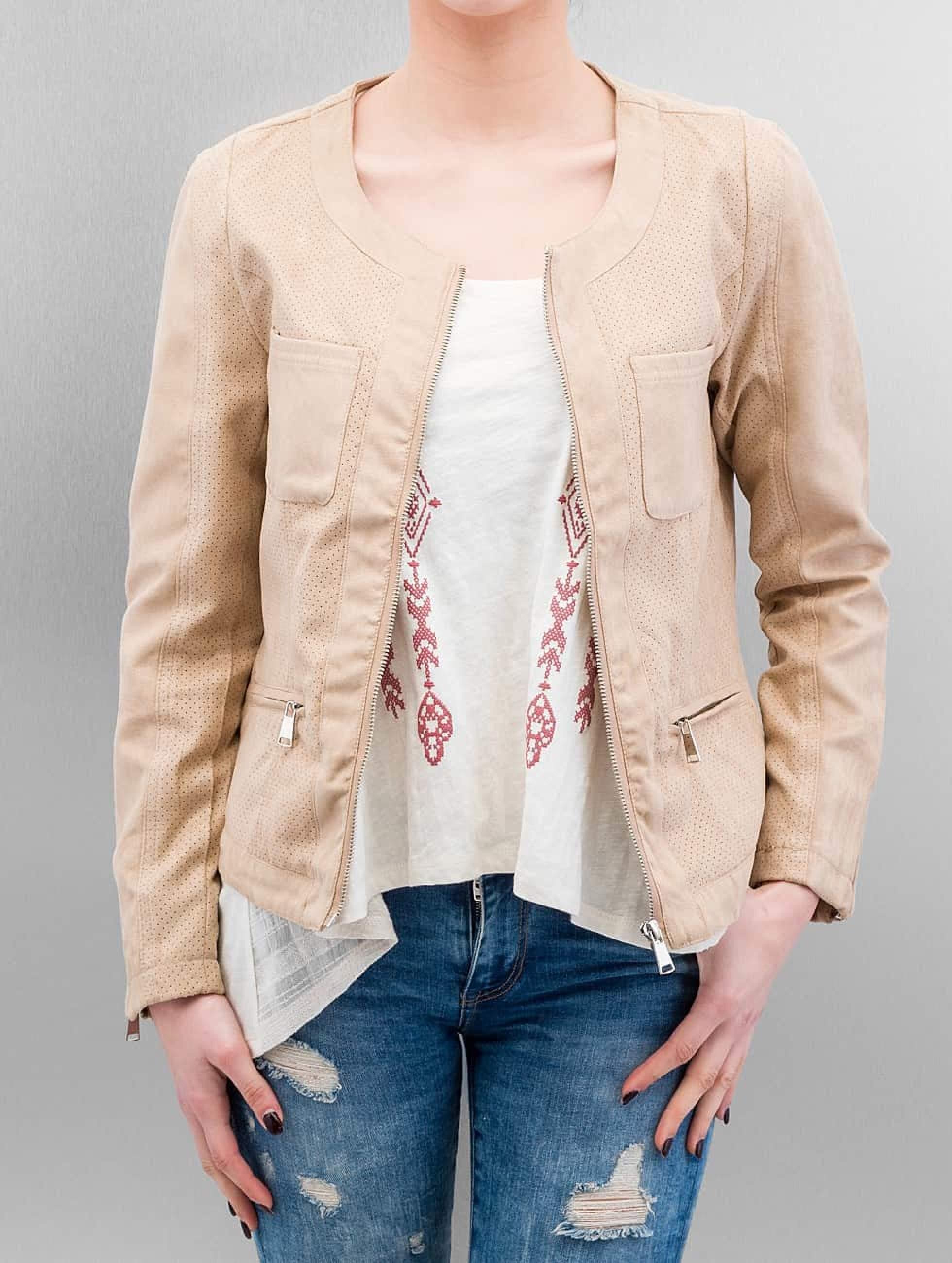 Hailys | Myriam  beige Femme Veste & Blouson en cuir
