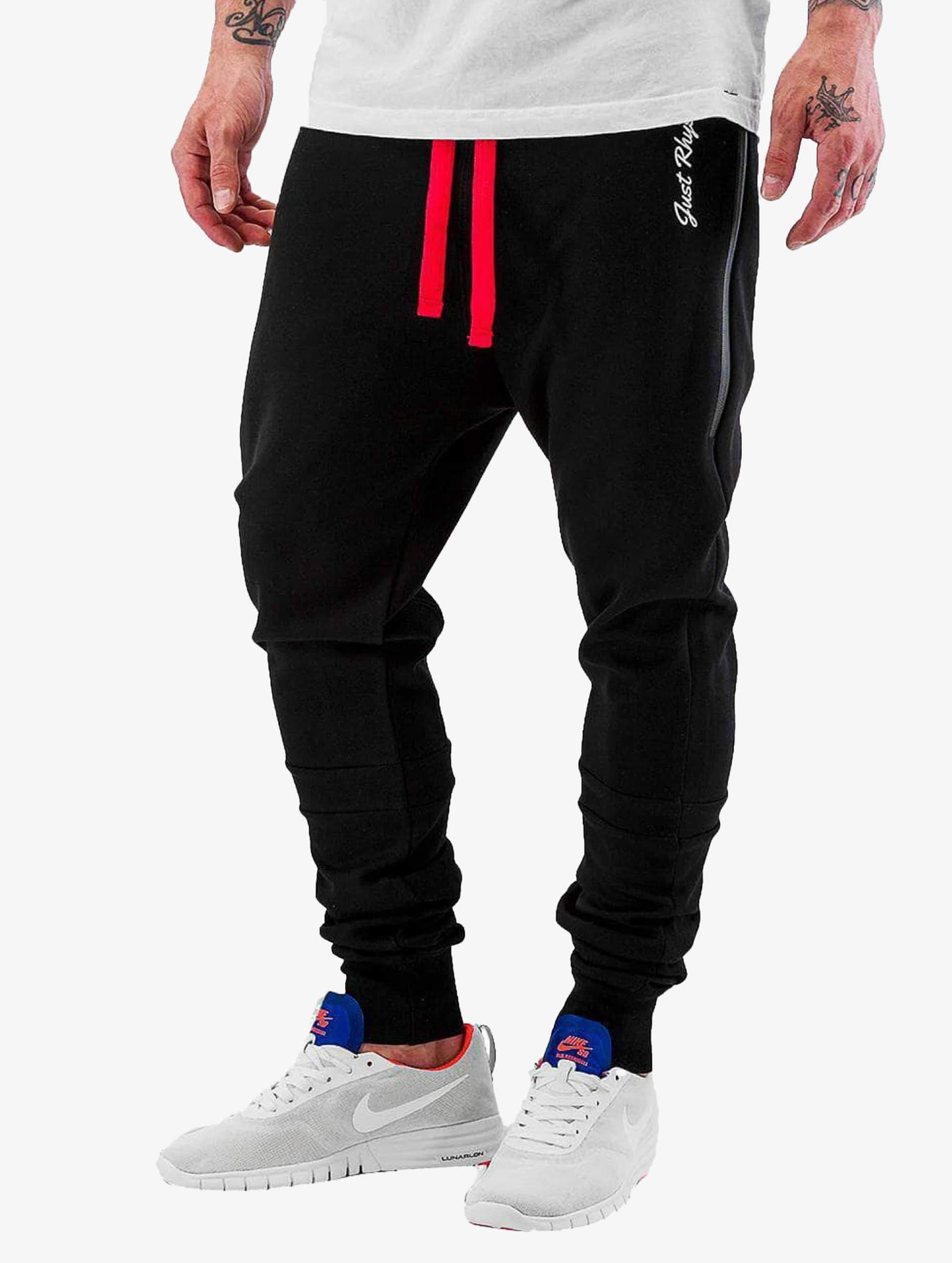 Just Rhyse / Sweat Pant Big Pocket Tech in black S