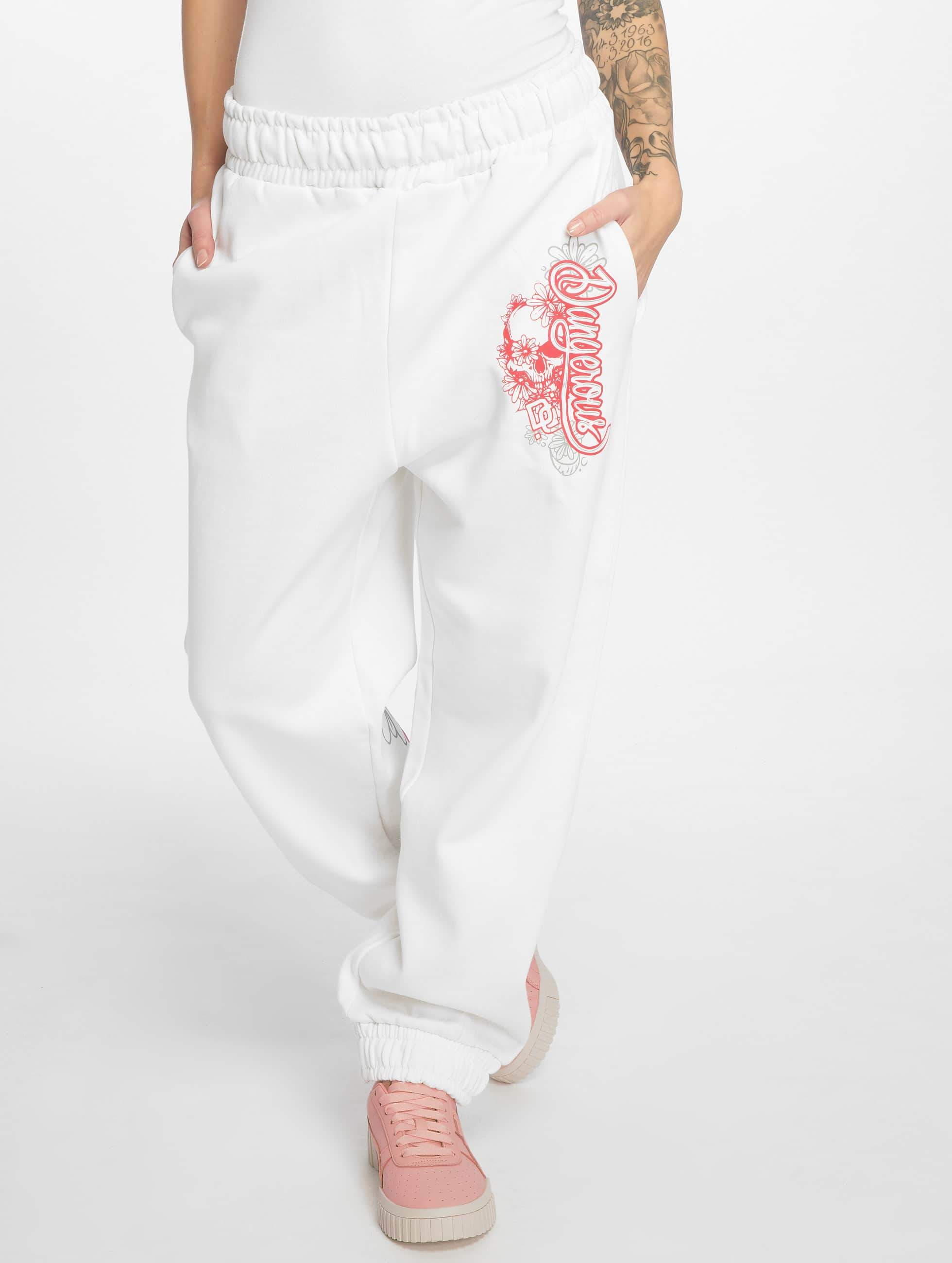 Dangerous DNGRS / Sweat Pant Pink in white 2XL