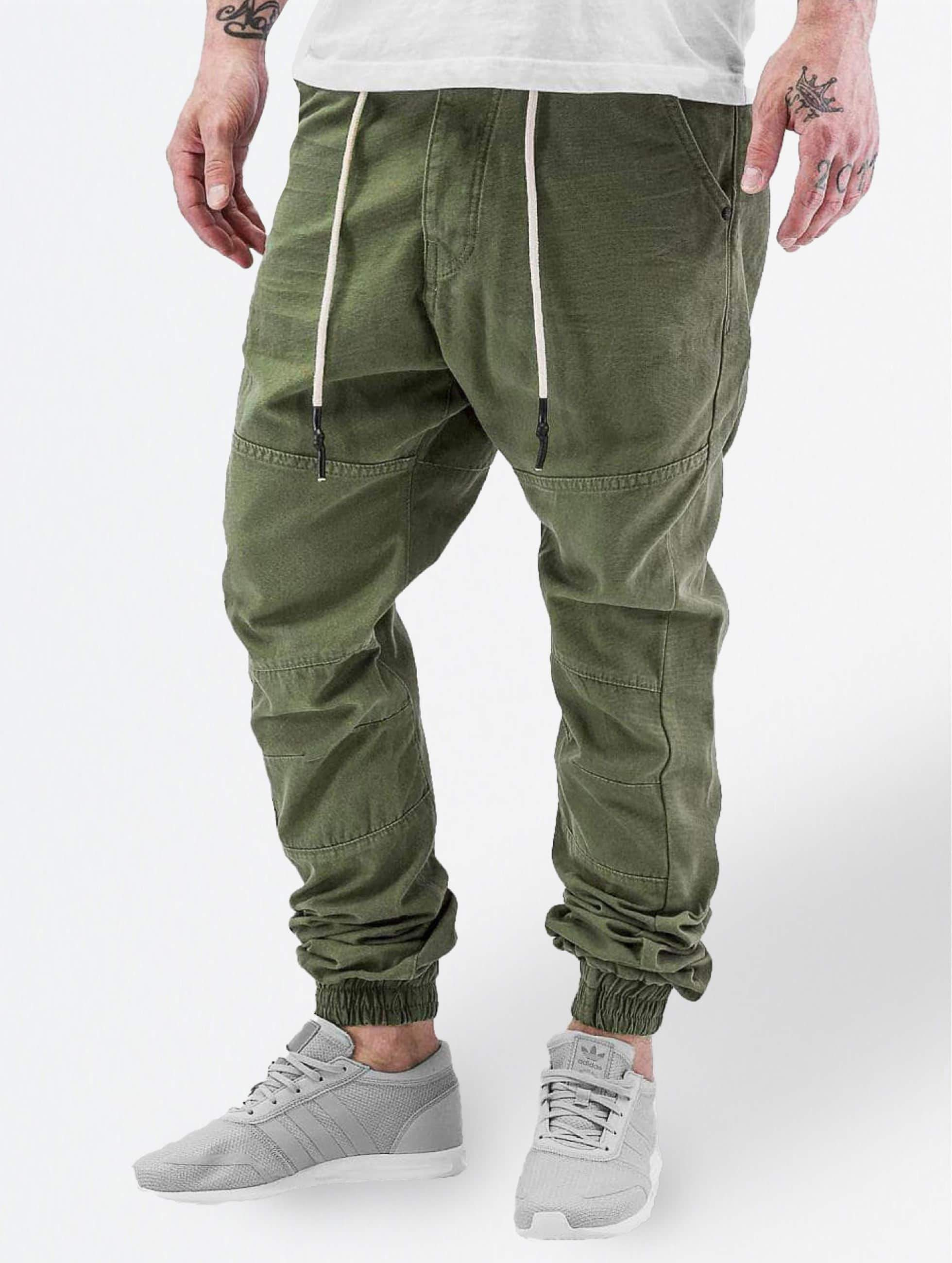 Just Rhyse / Chino Börge in olive W 38