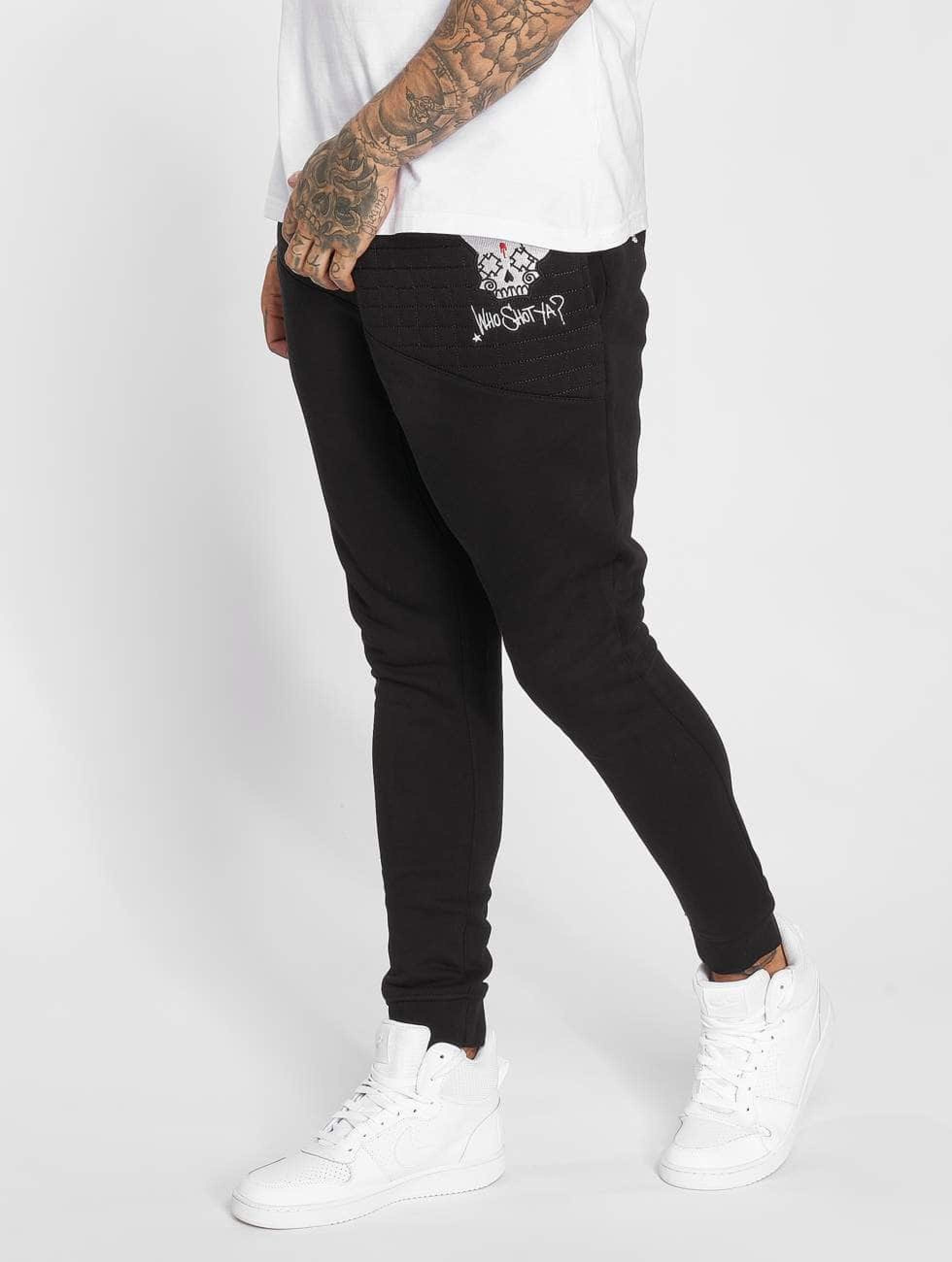 Who Shot Ya? / Sweat Pant Dubbo in black 3XL