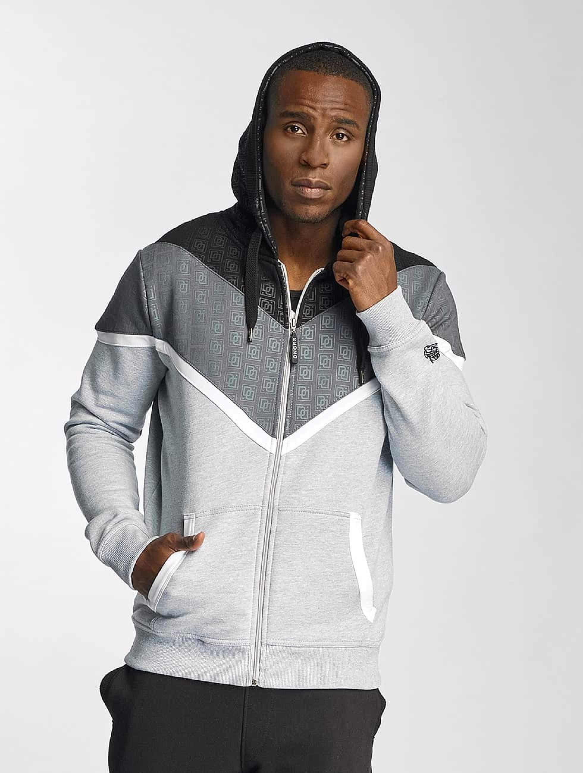 Dangerous DNGRS / Zip Hoodie Leu in grey XL