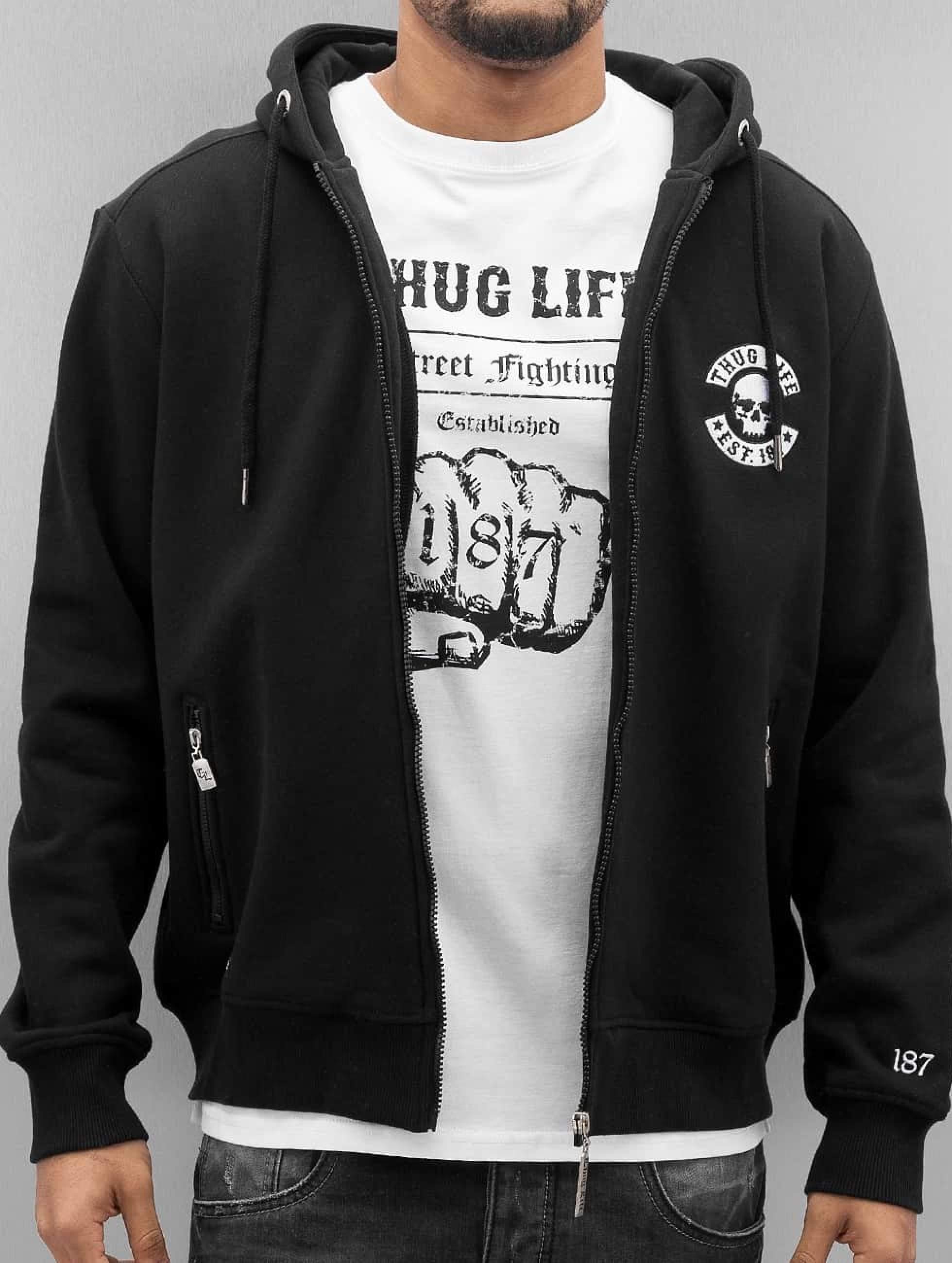 Thug Life / Zip Hoodie Base Est in black 2XL