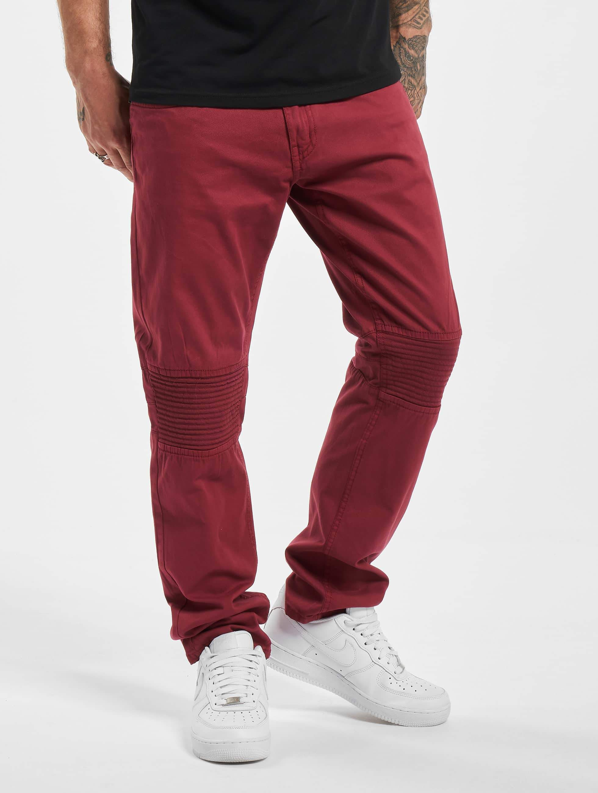 Rocawear / Straight Fit Jeans Quilted in red W 31