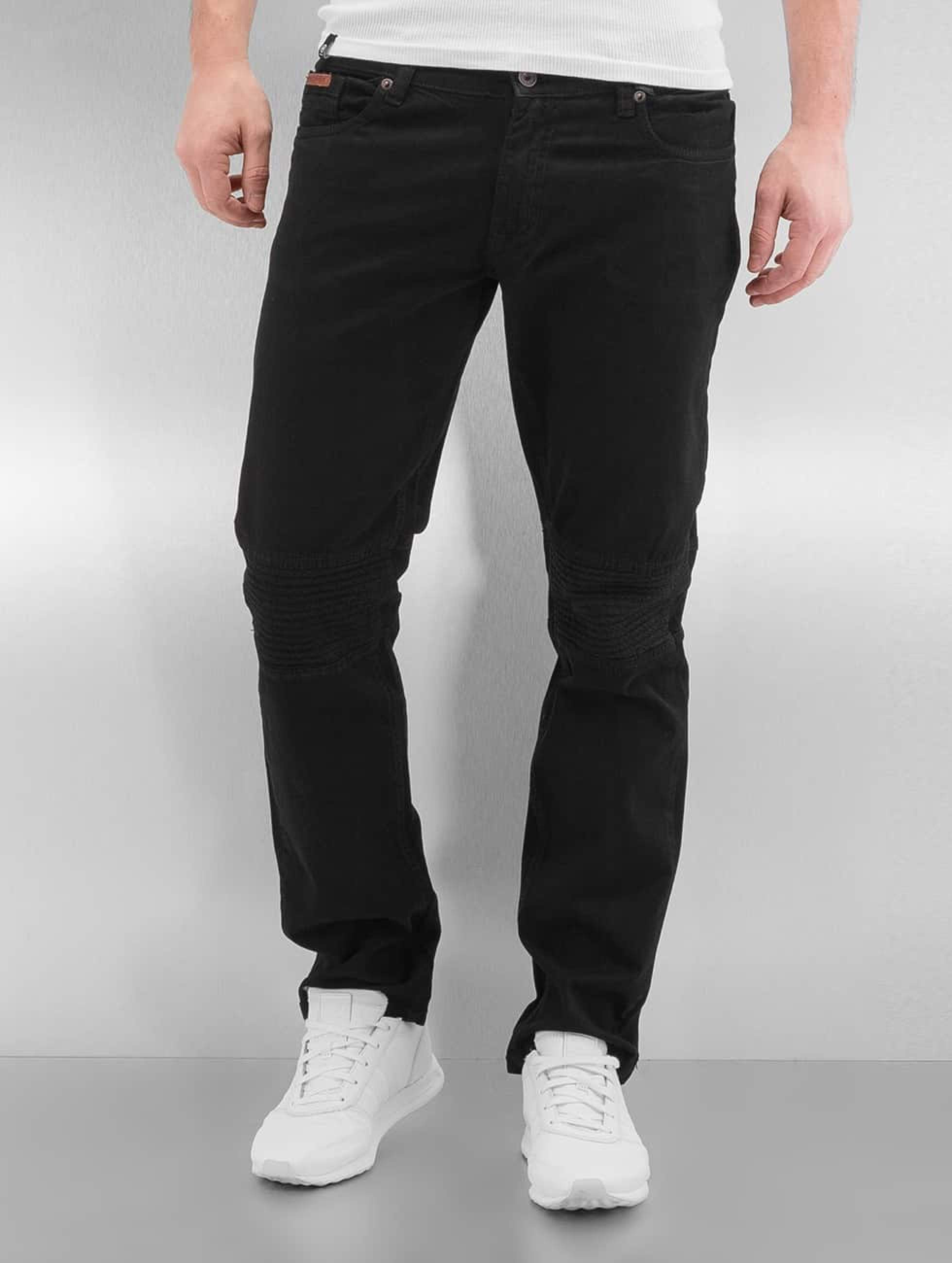 Rocawear / Straight Fit Jeans Quilted in black W 30