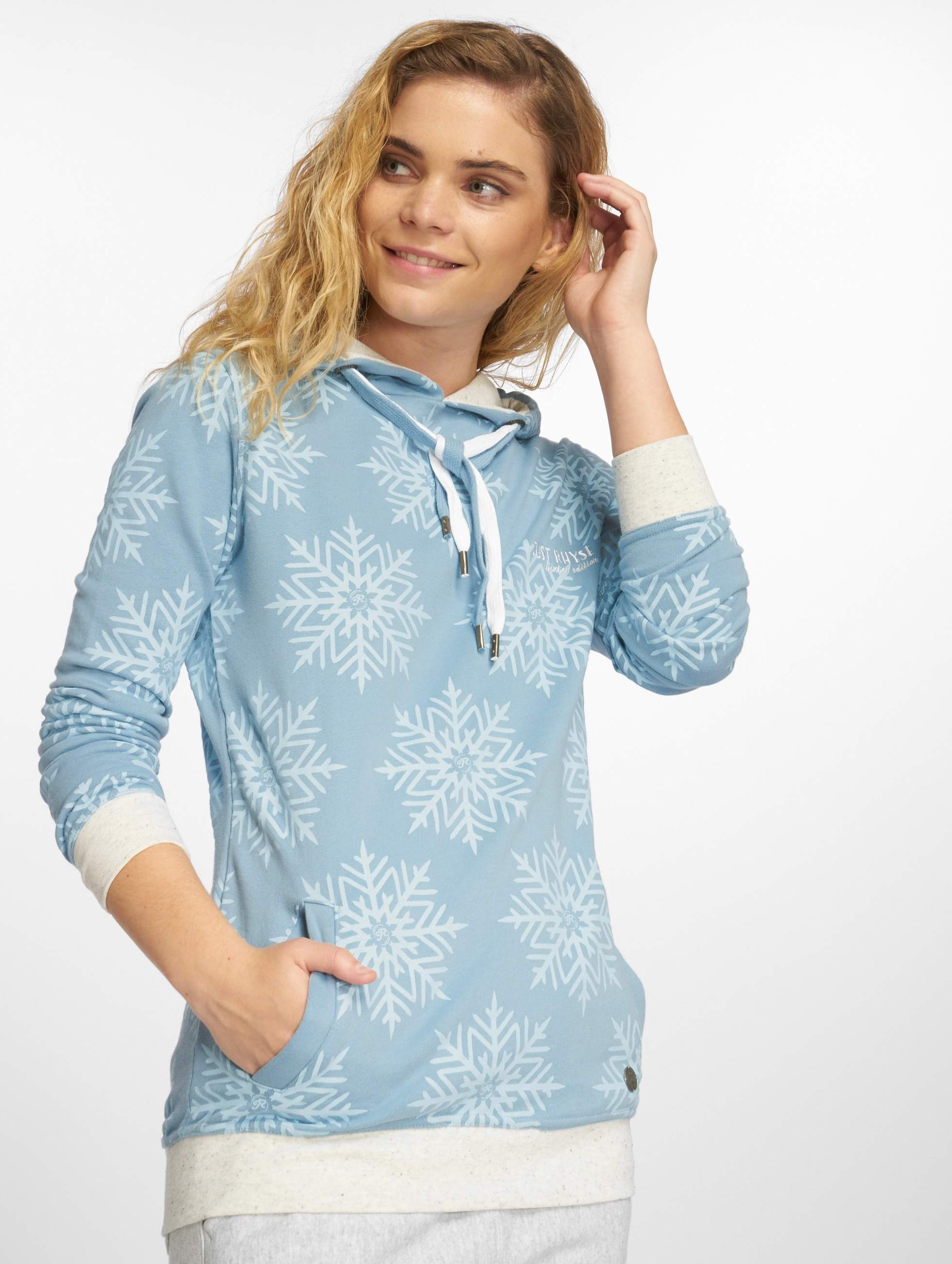 Just Rhyse / Hoodie Snow in blue XL