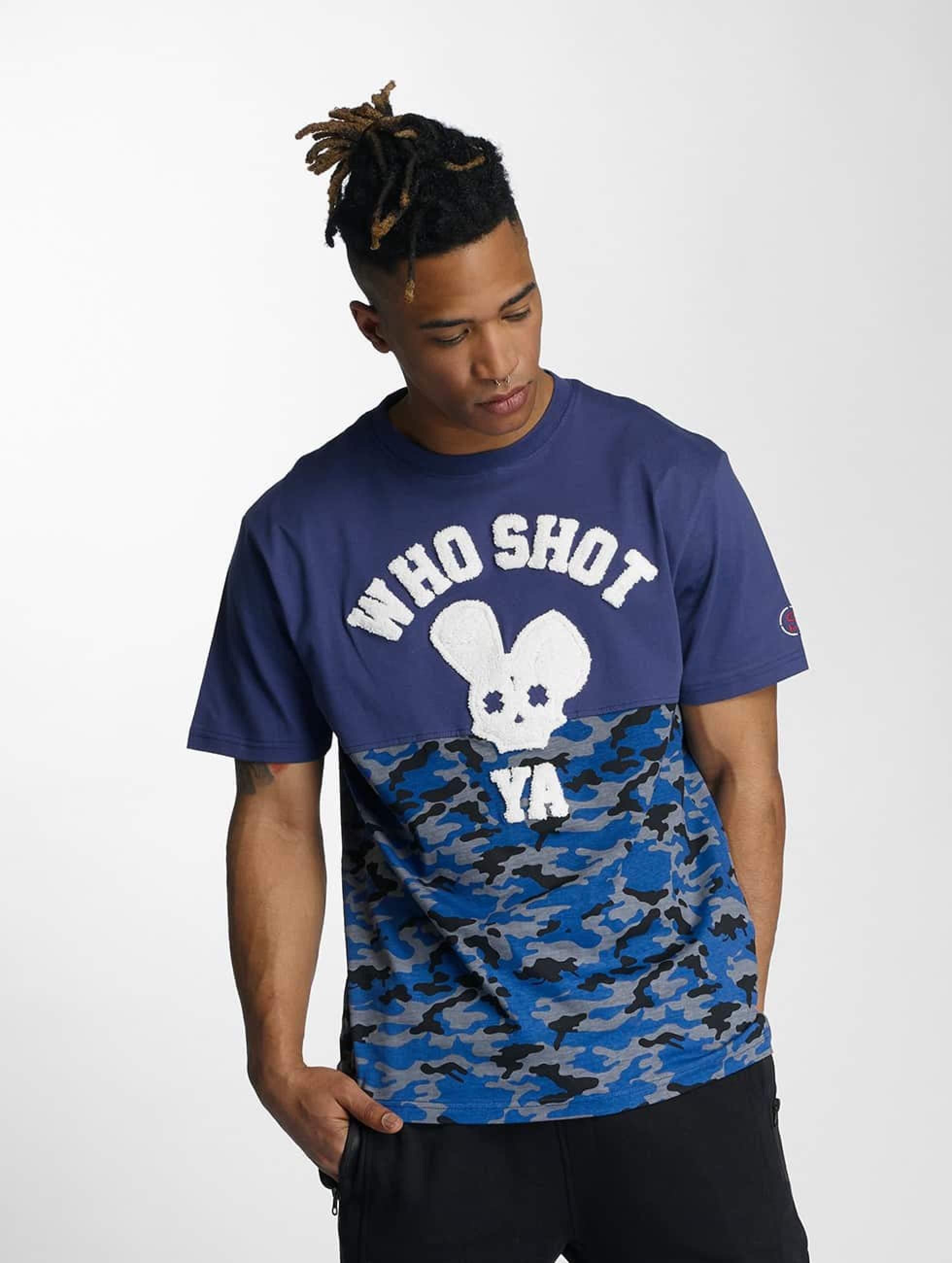 Who Shot Ya? / T-Shirt Bluecamou in blue XL