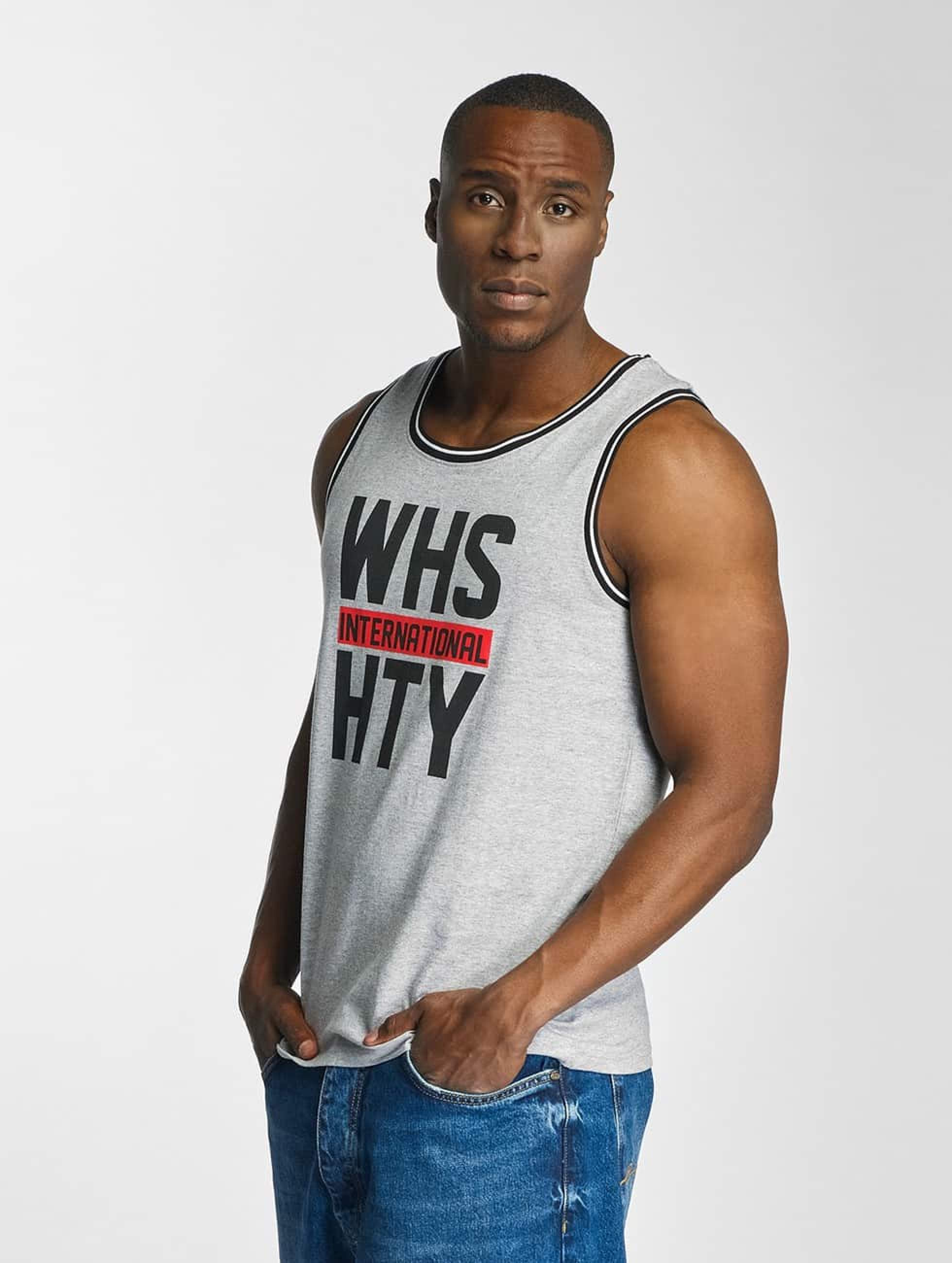Who Shot Ya? / Tank Tops International in grey 2XL