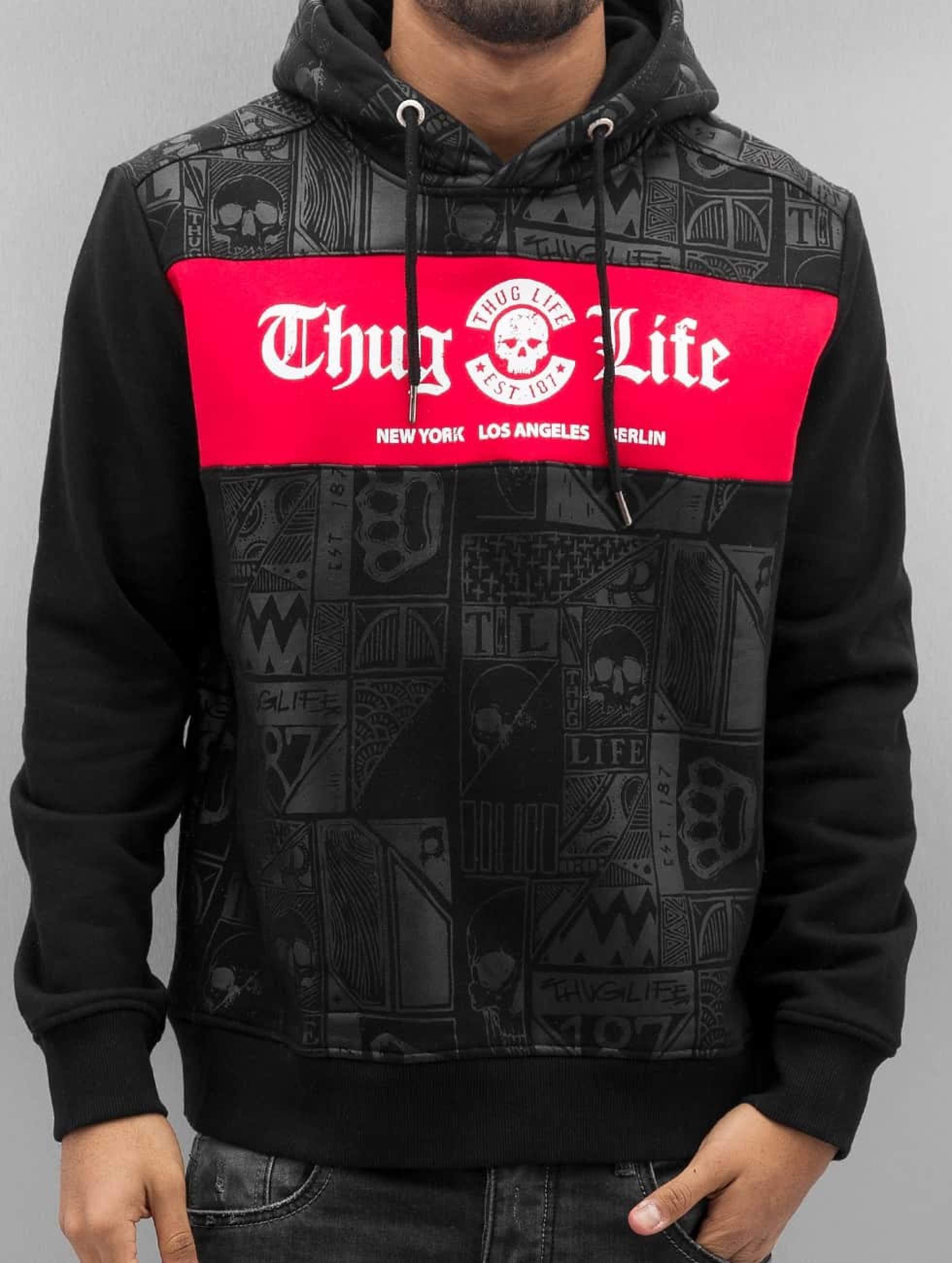 Thug Life / Hoodie Broon in black S