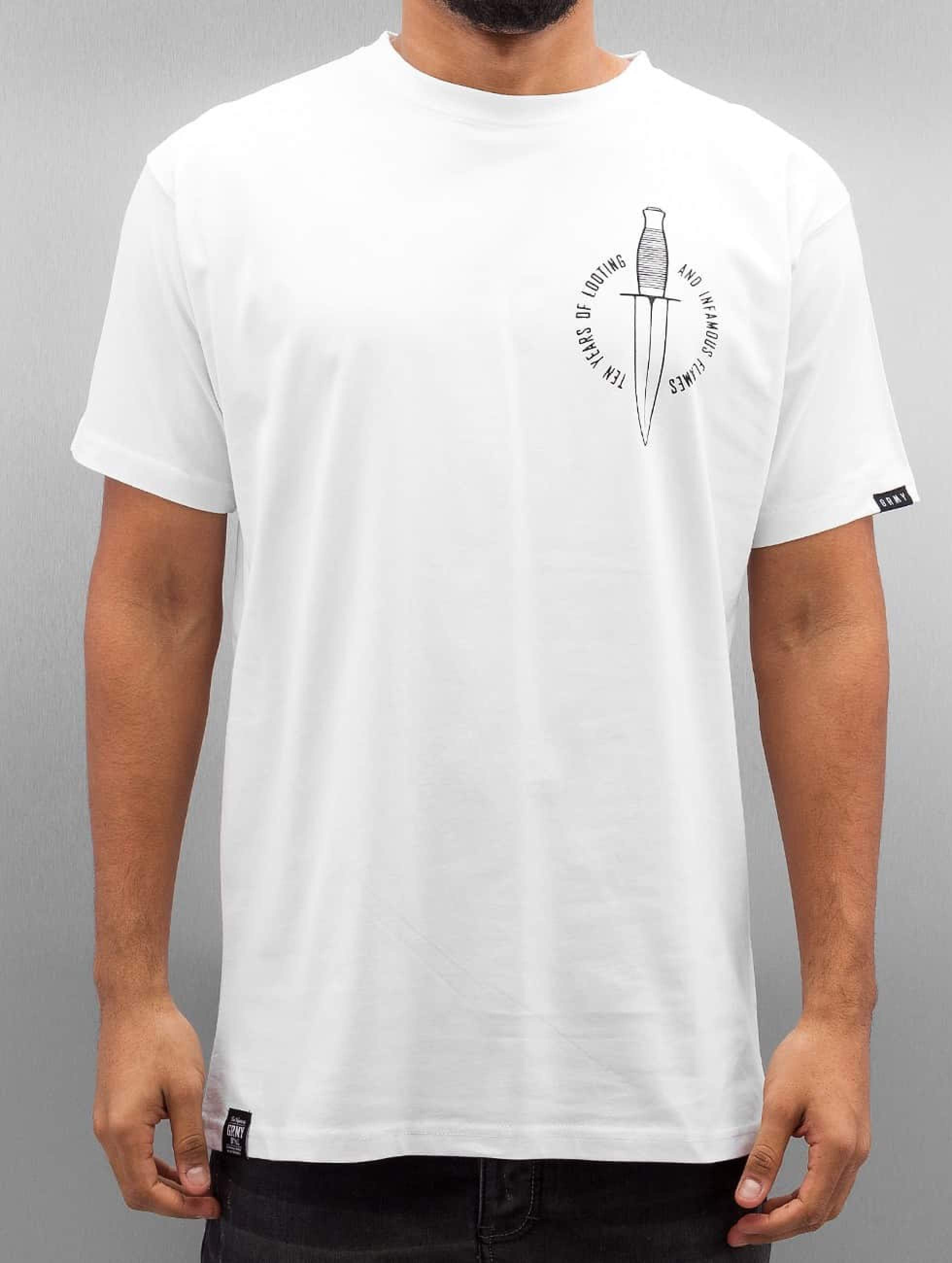 Grimey Wear | Ten Stab Wounds blanc Homme T-Shirt