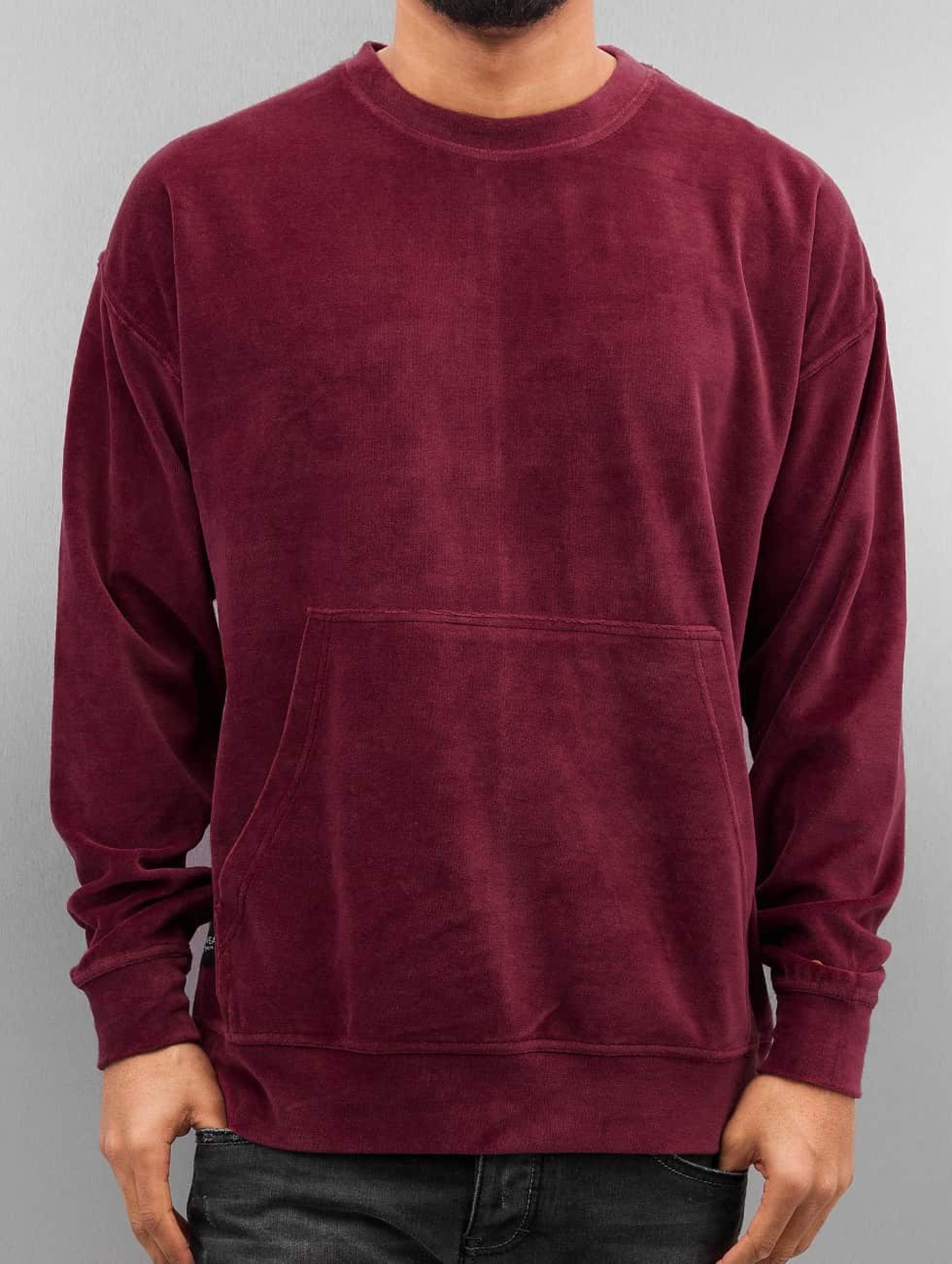 Rocawear / Jumper Velour Samt in red XL