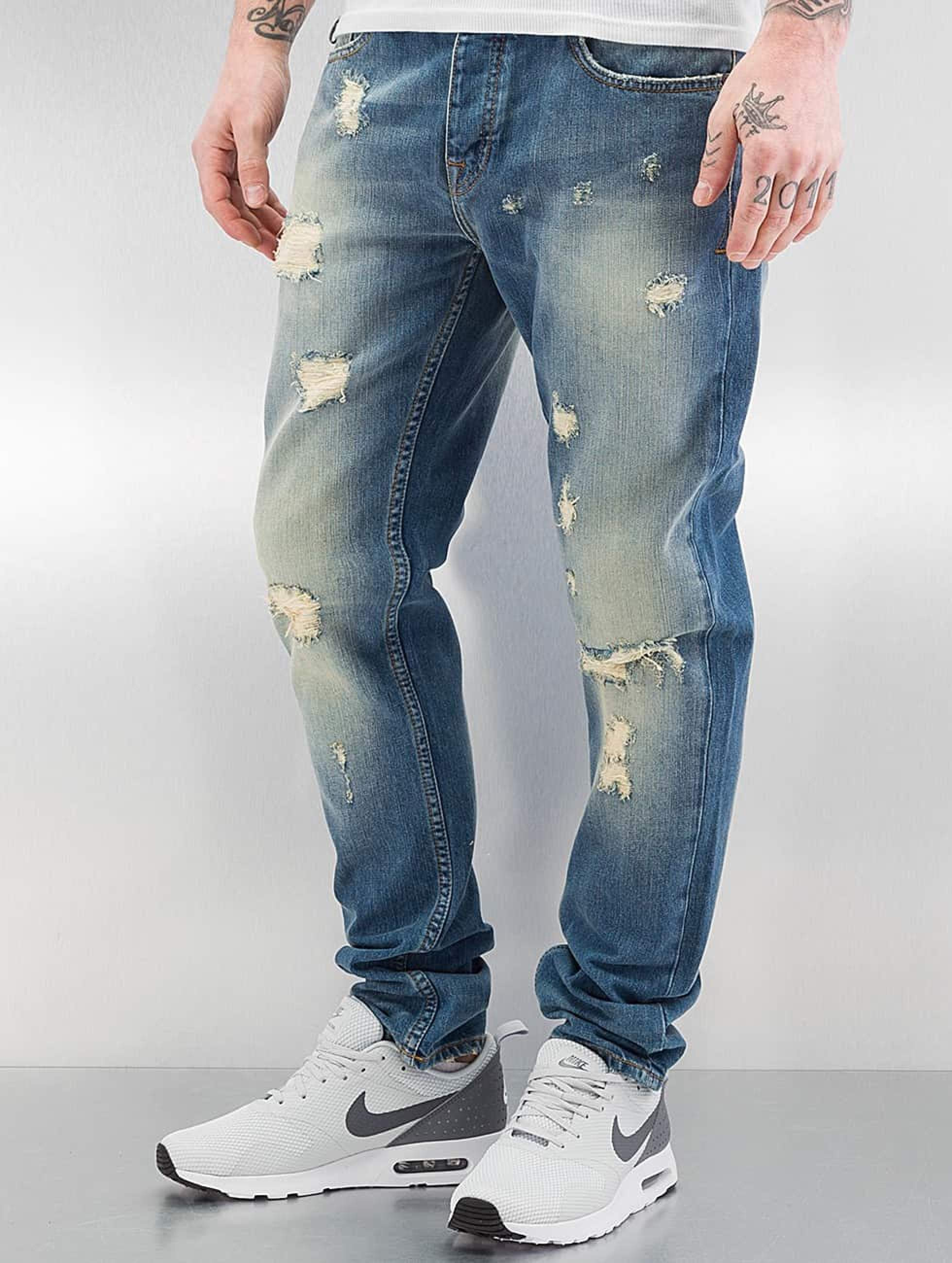 Pelle Pelle Männer Straight Fit Jeans Scotty in blau