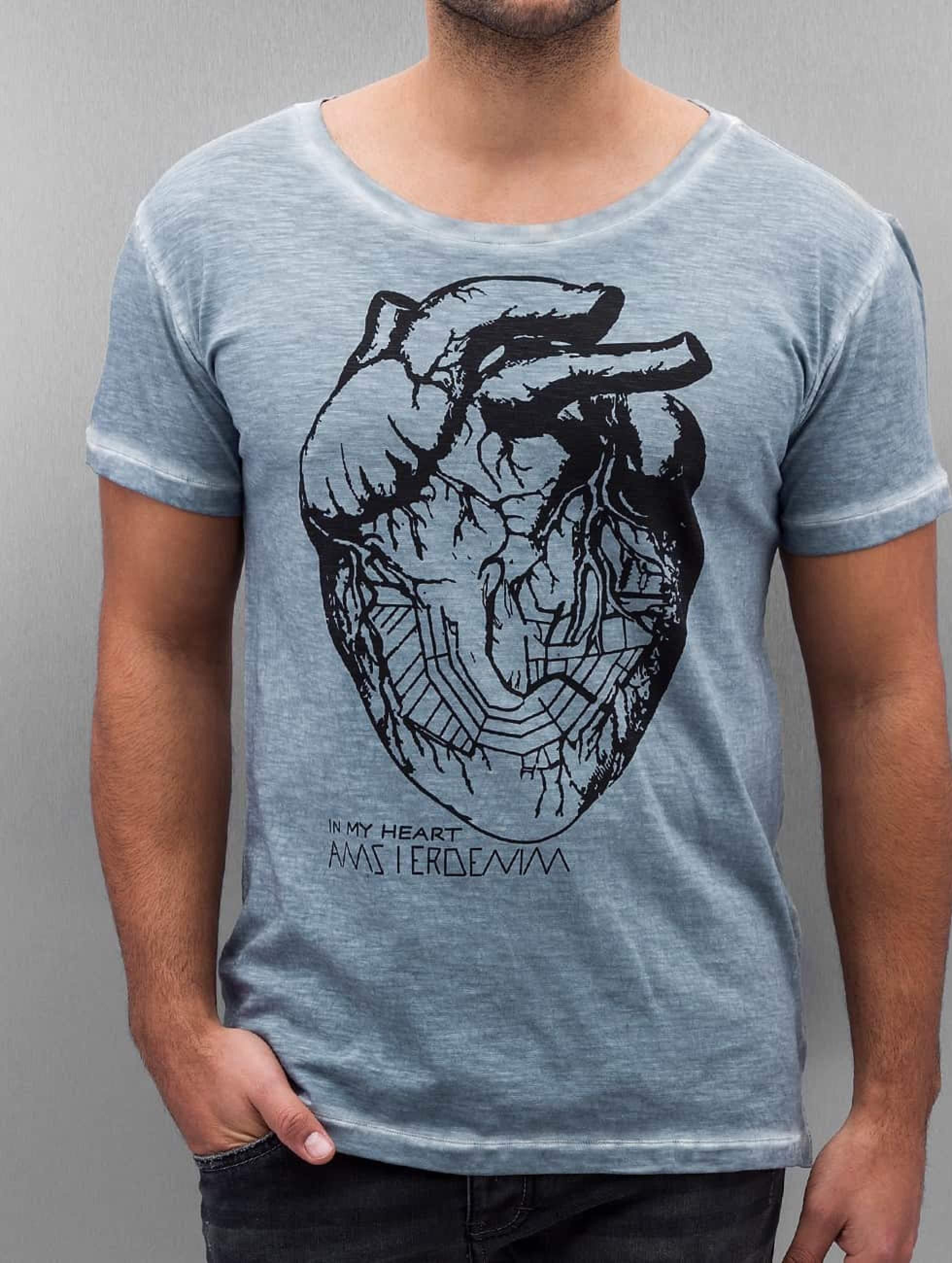Amsterdenim | Floris bleu Homme T-Shirt