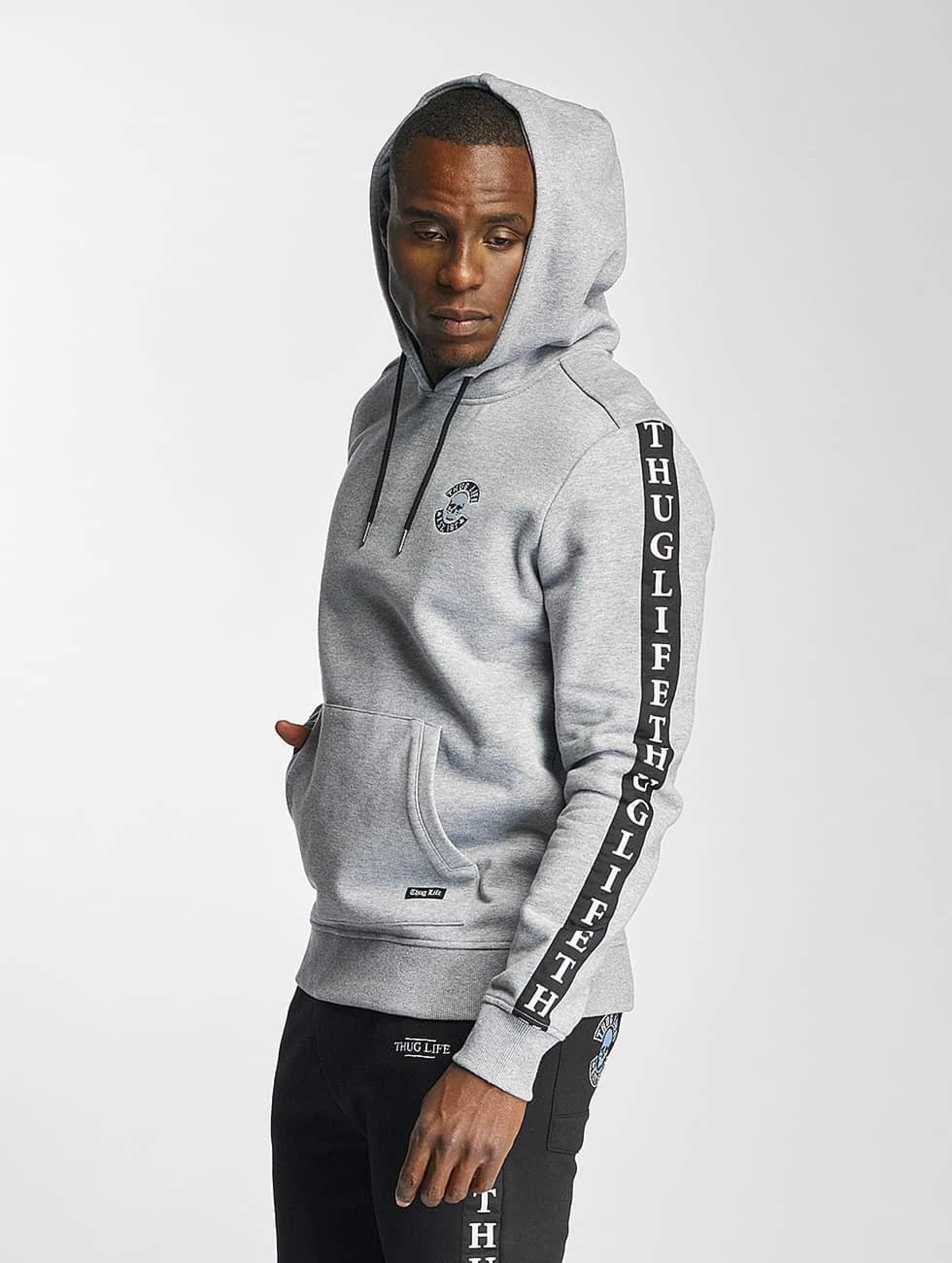 Thug Life / Hoodie Based in grey 3XL