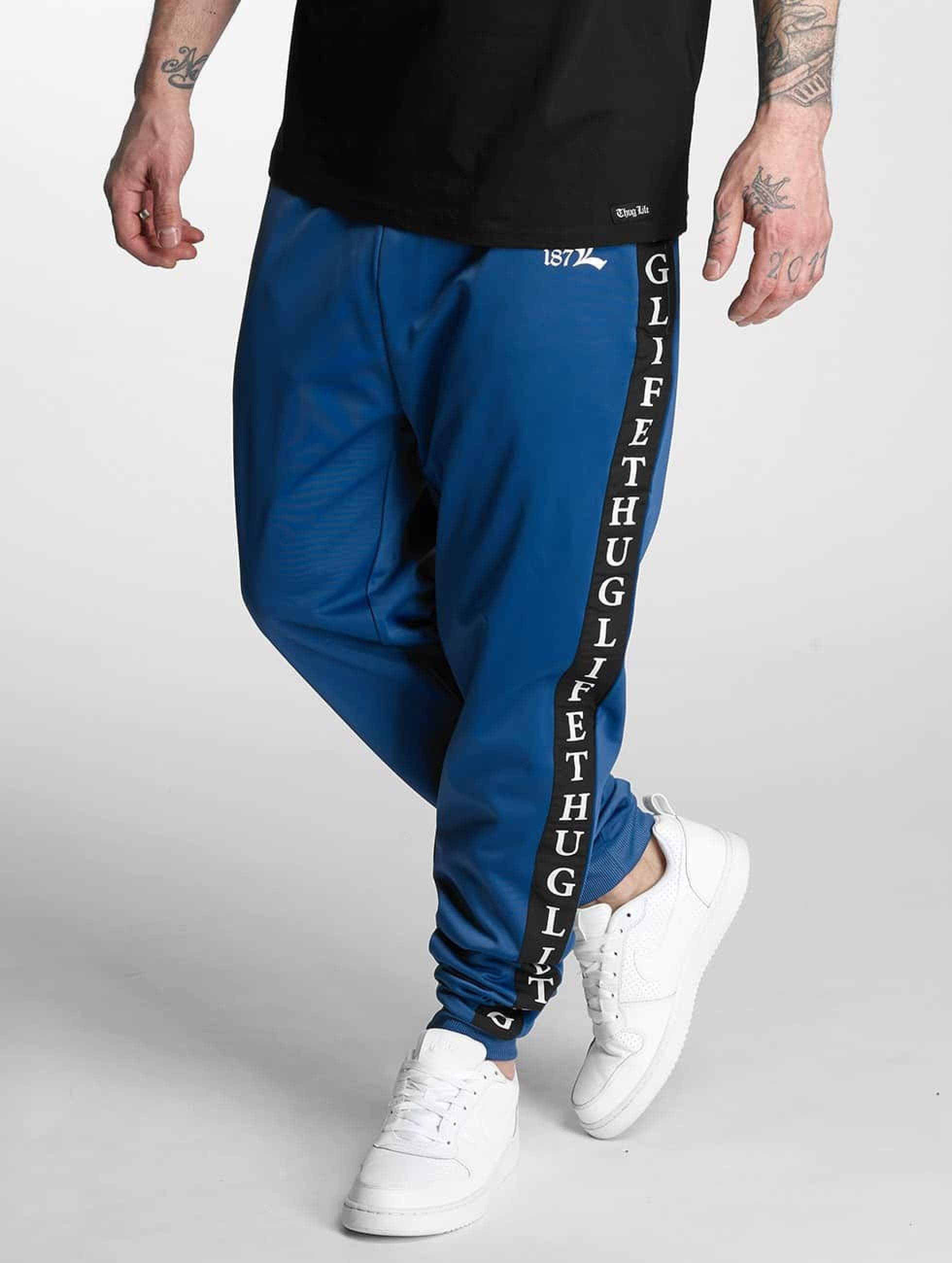 Thug Life / Sweat Pant Two Stripes in blue L