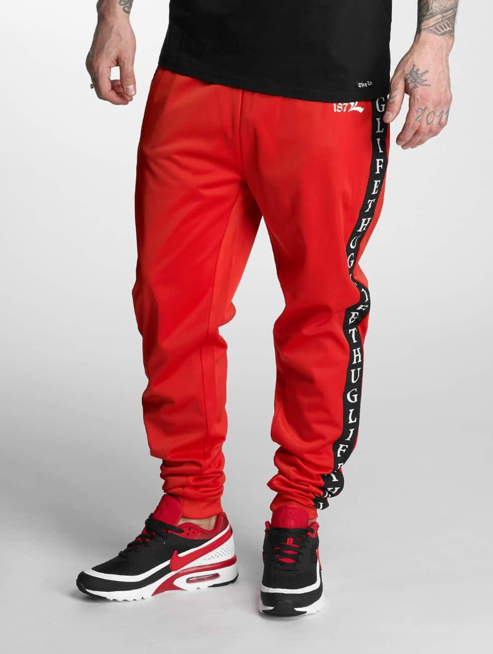 Thug Life / Sweat Pant Two Stripes in red M