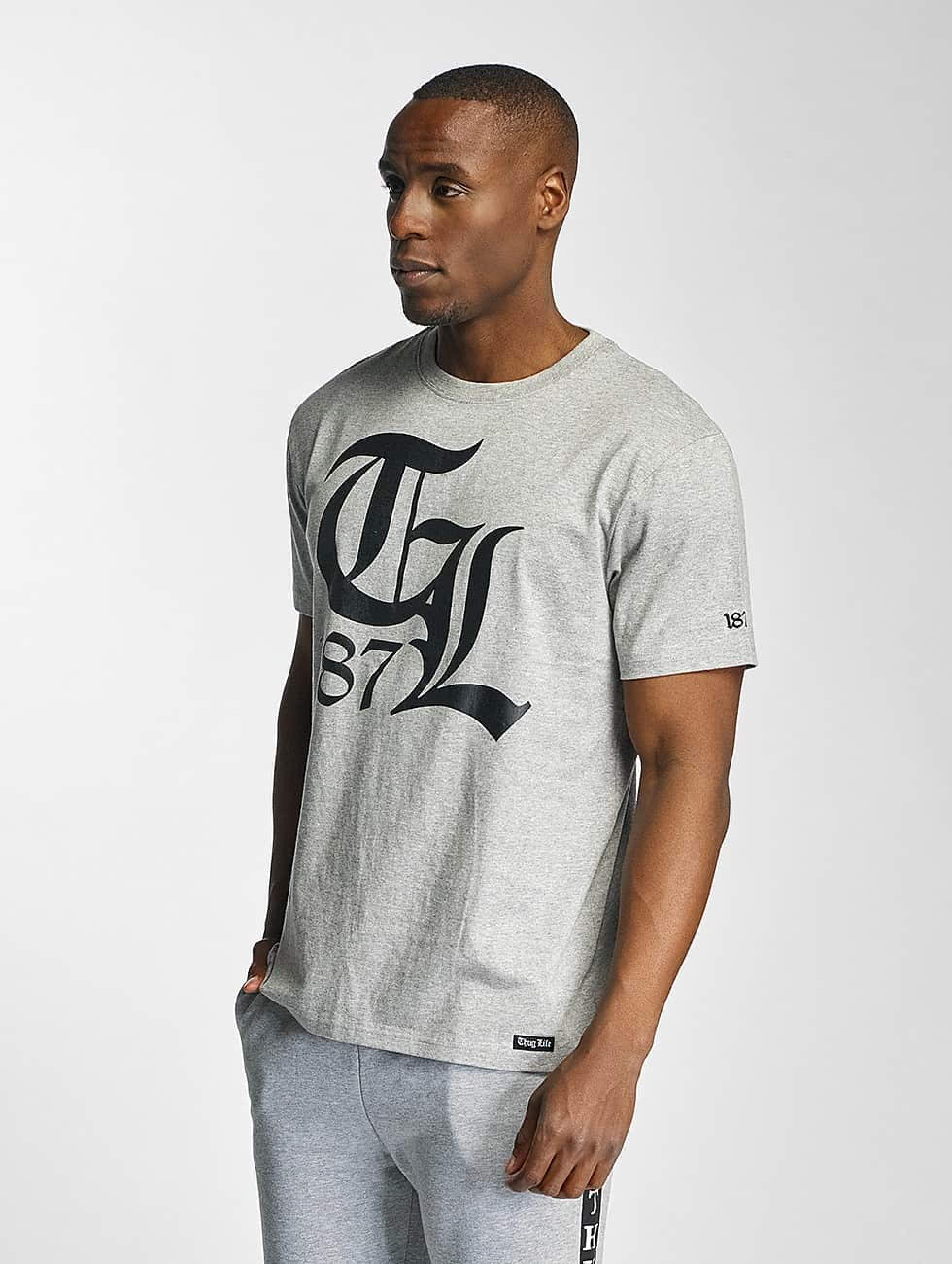 Thug Life / T-Shirt Mellow in grey M