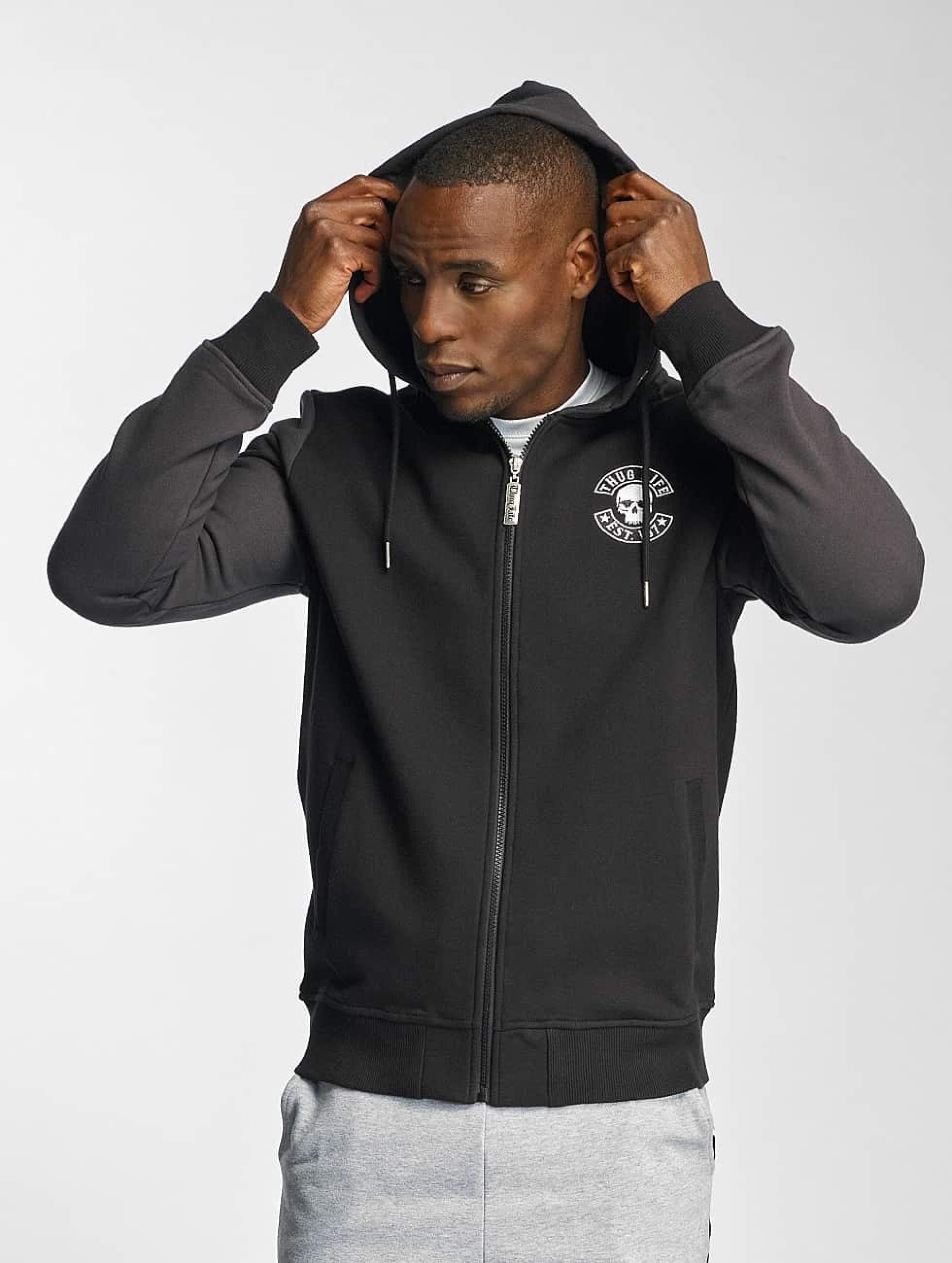 Thug Life / Zip Hoodie Goldteeth in black XL
