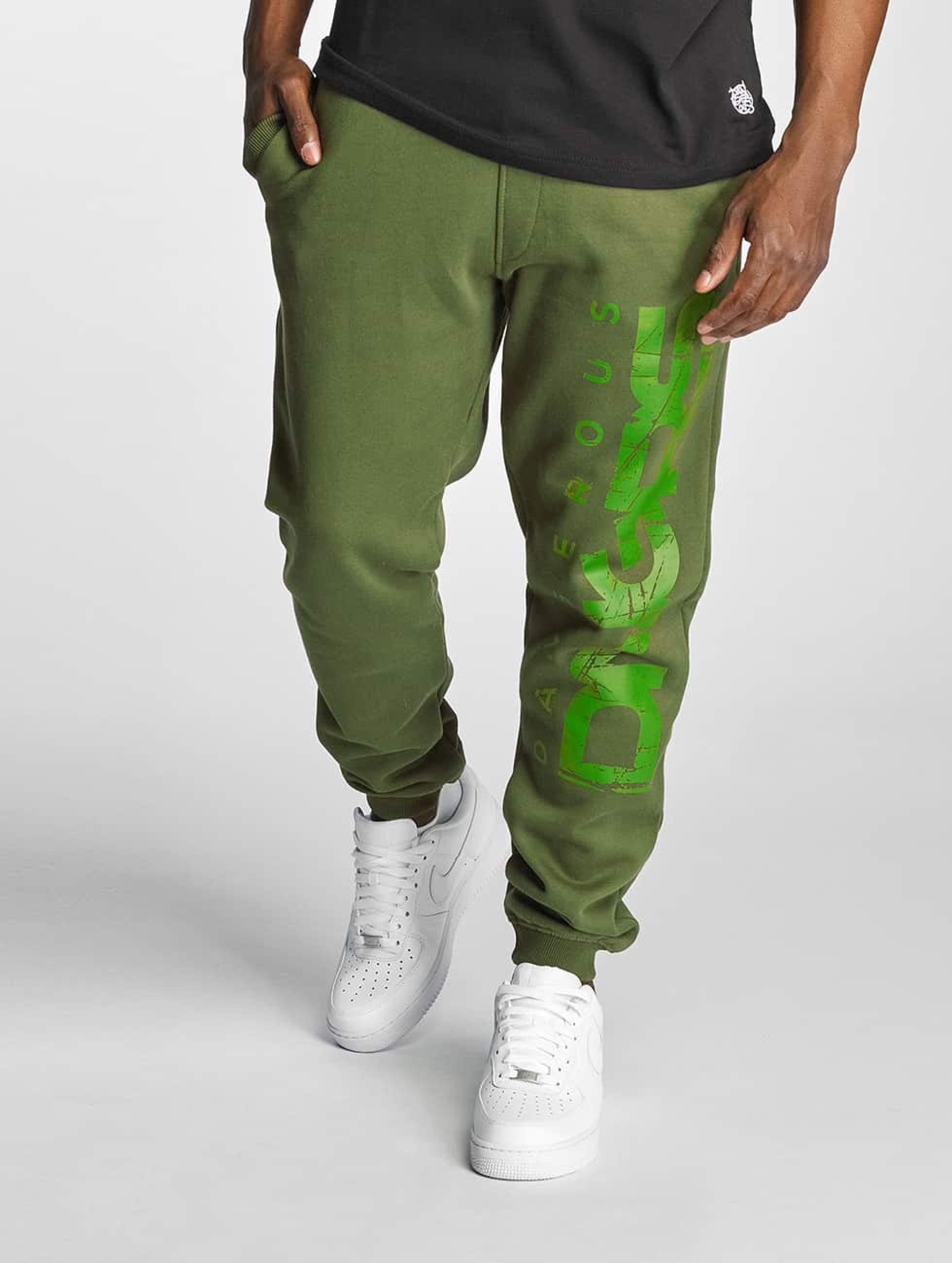 Dangerous DNGRS / Sweat Pant Full Anger in green L