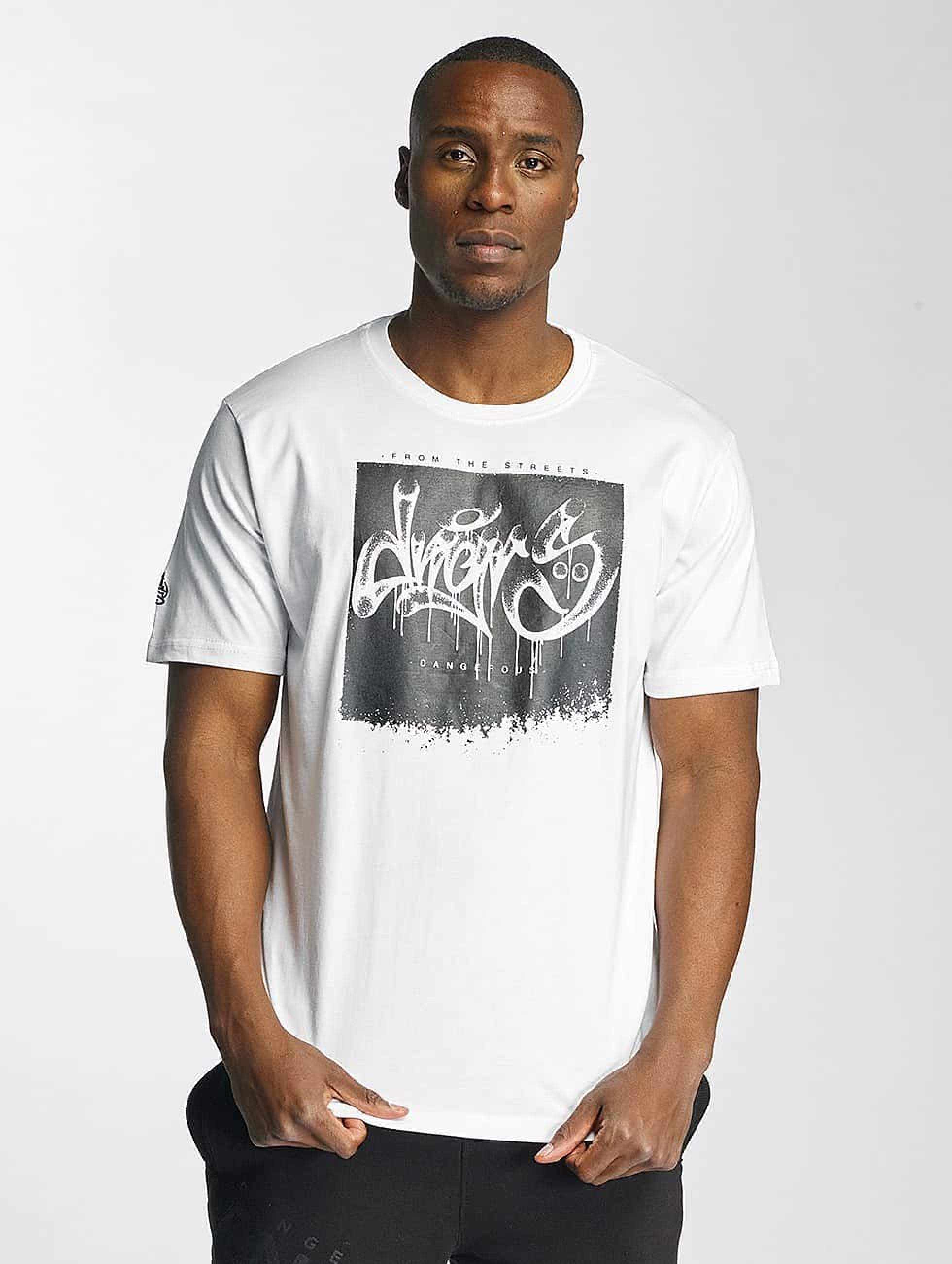 Dangerous DNGRS / T-Shirt From The Streets Throw Up in white M