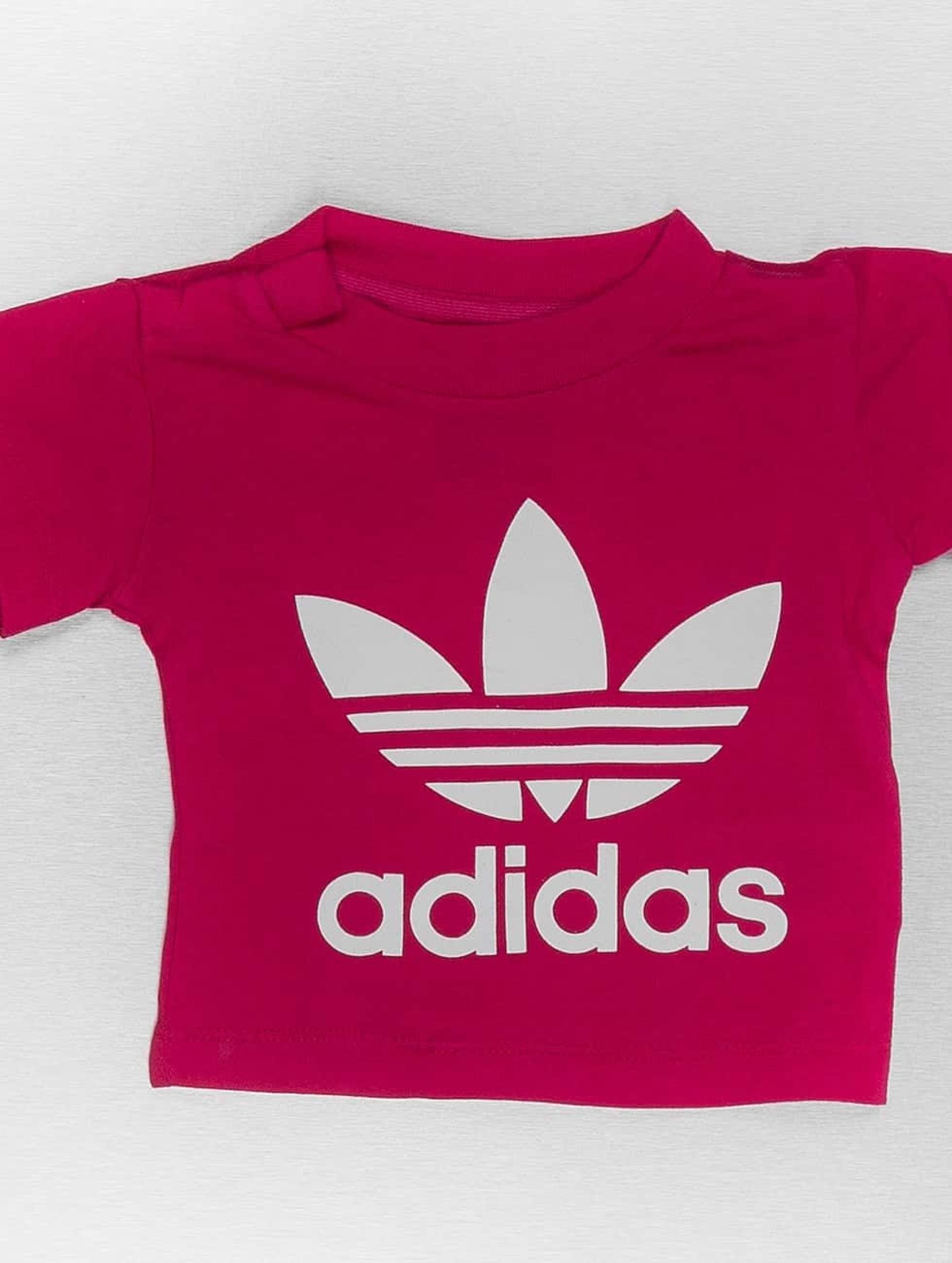 fa44d6fe7fe90b adidas originals Kinder T-Shirt I Trefoil in rot