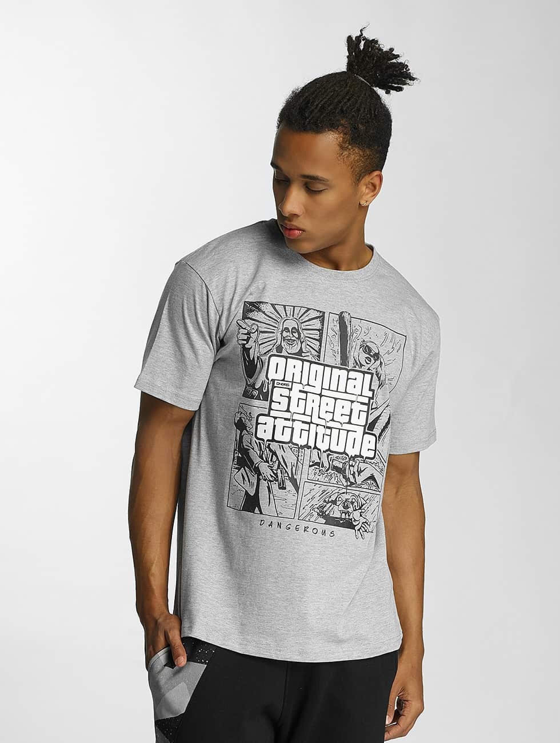 Dangerous DNGRS / T-Shirt Original Street Attiude in grey M