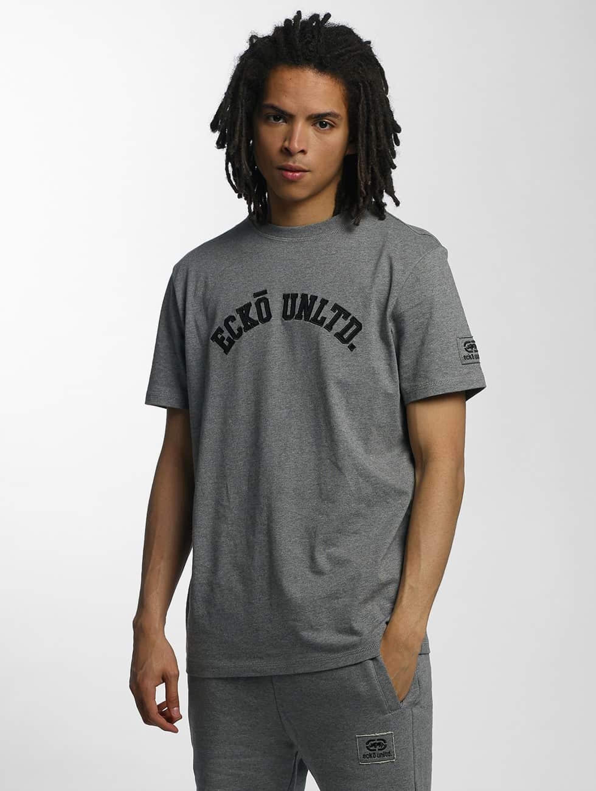 Ecko Unltd. / T-Shirt Melange in grey XL
