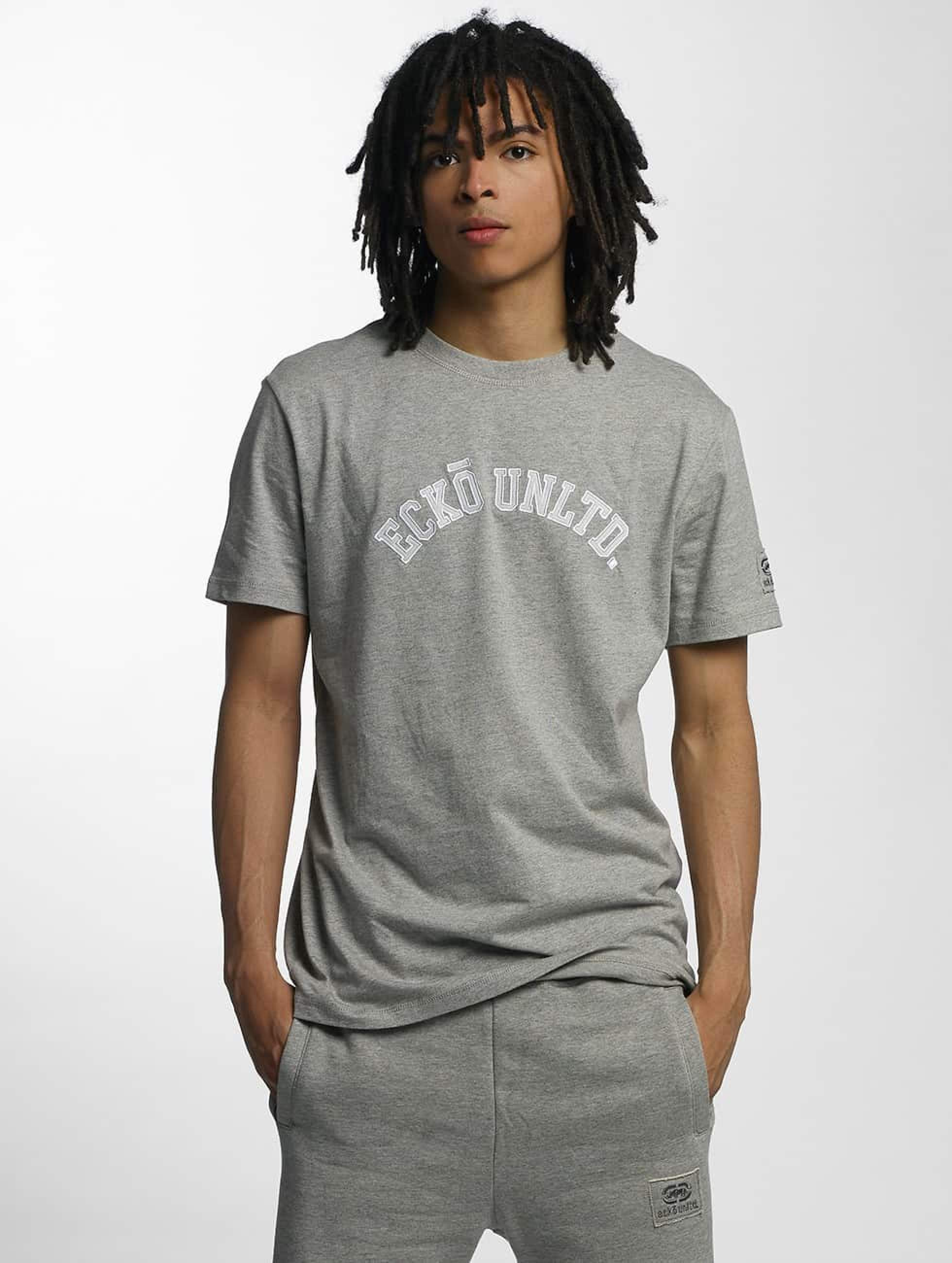 Ecko Unltd. / T-Shirt Melange in grey 3XL
