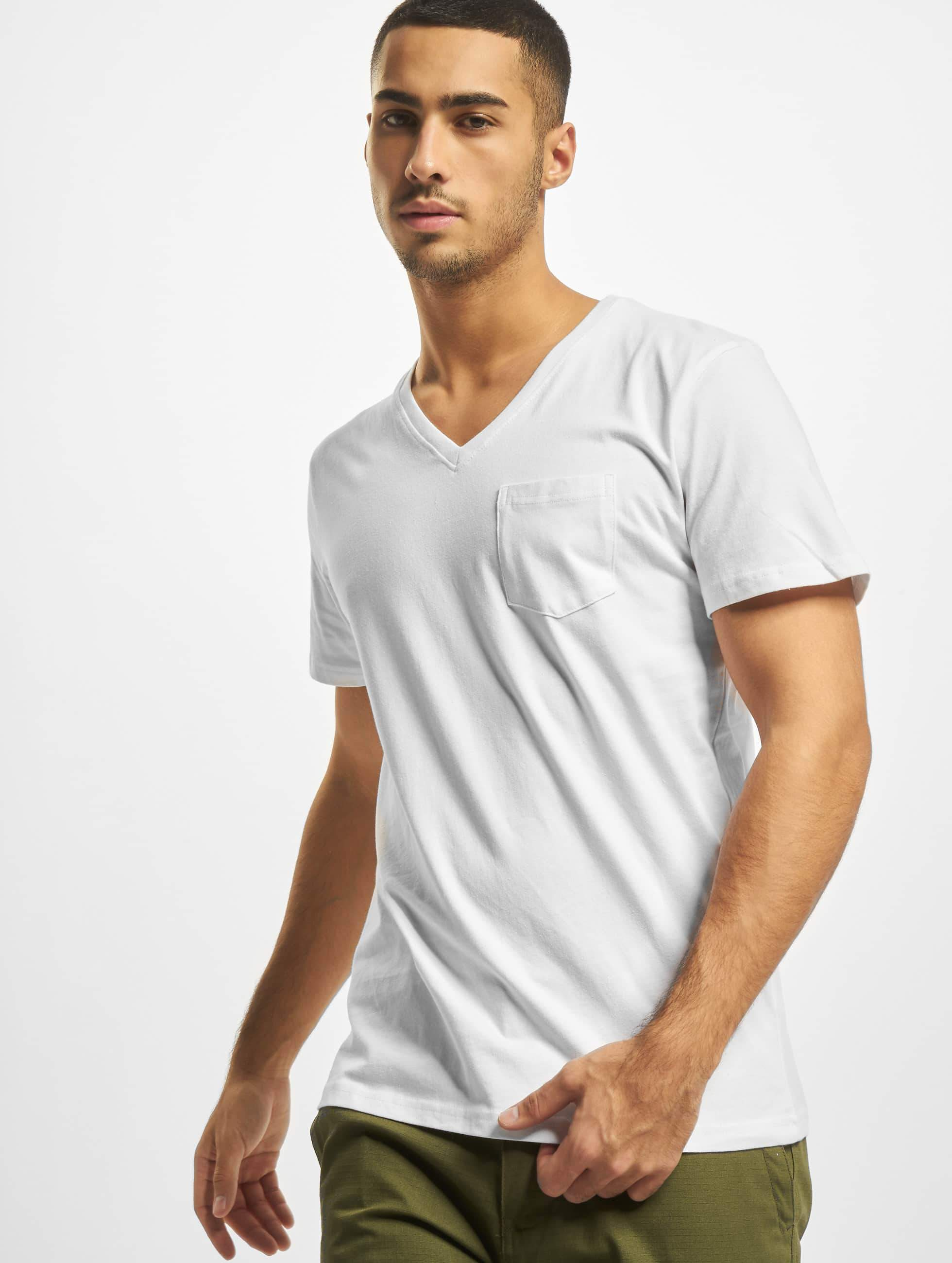 DEF / T-Shirt V-Neck in white 2XL