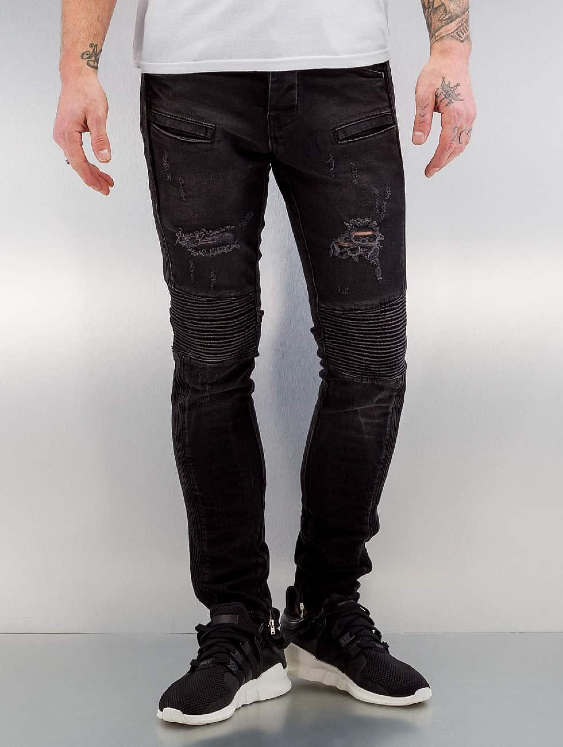 2Y / Skinny Jeans Quilted in black W 33