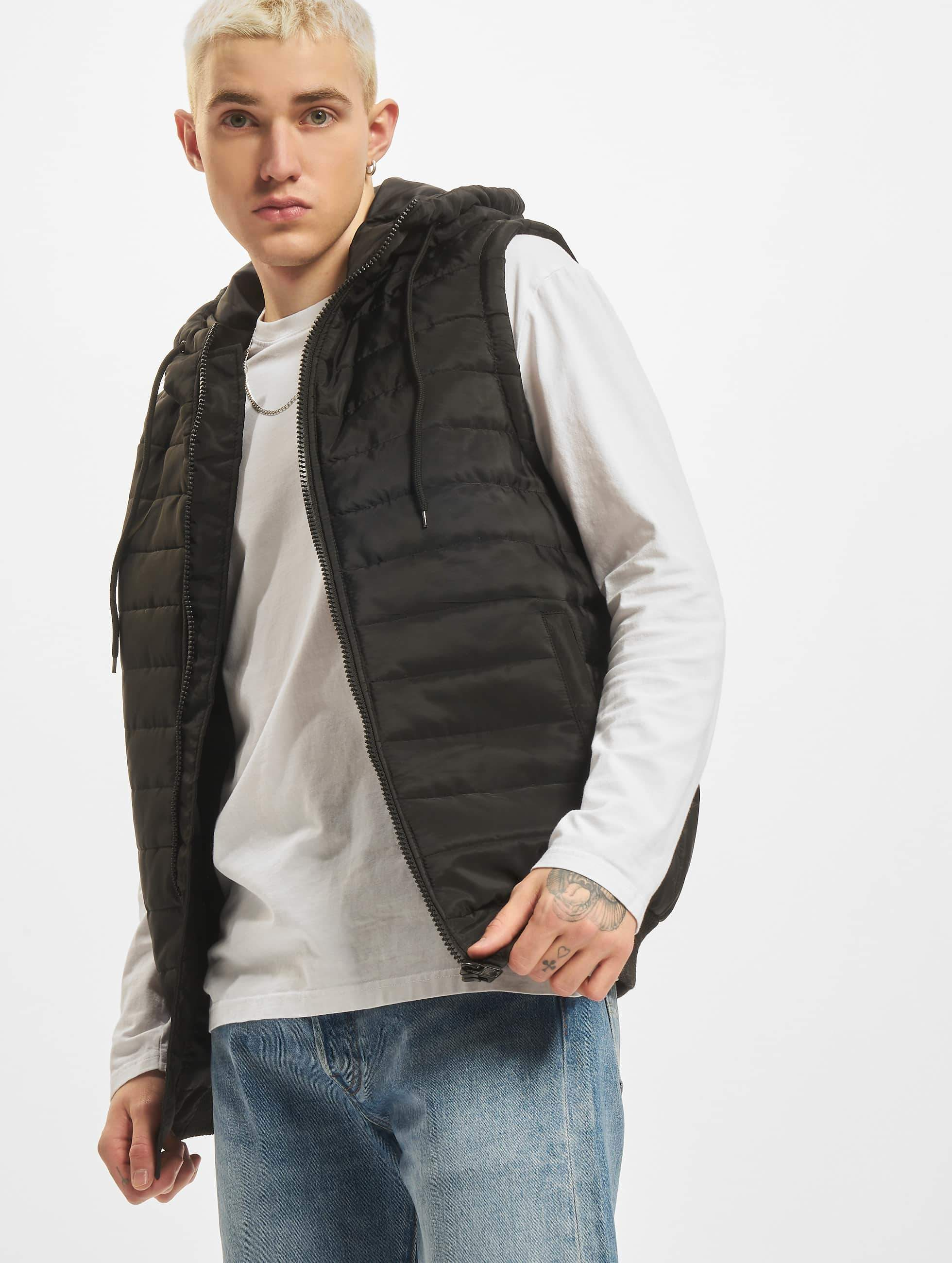 DEF / Vest Quilted in black L